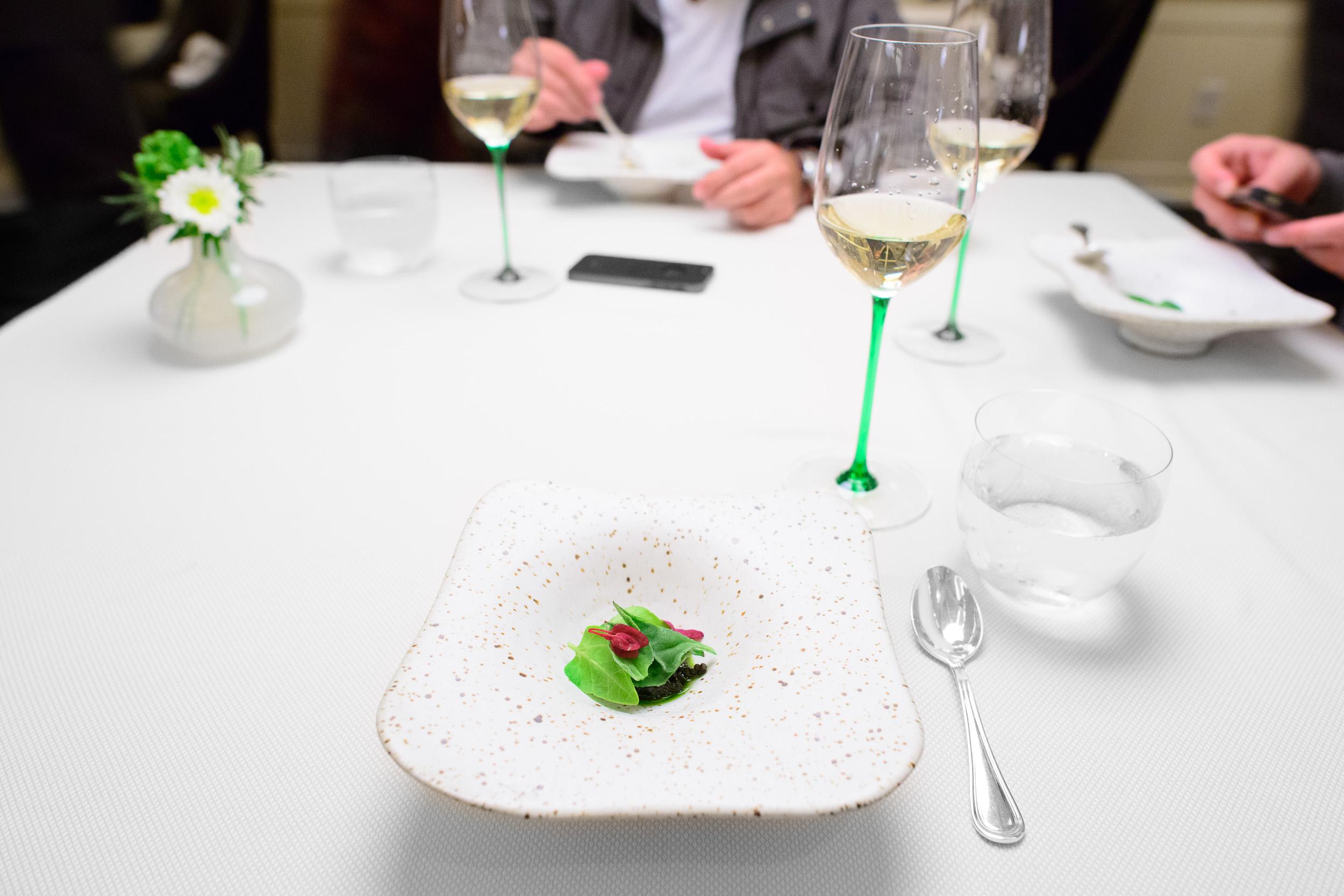 4th Course: Succulents, warm caviar