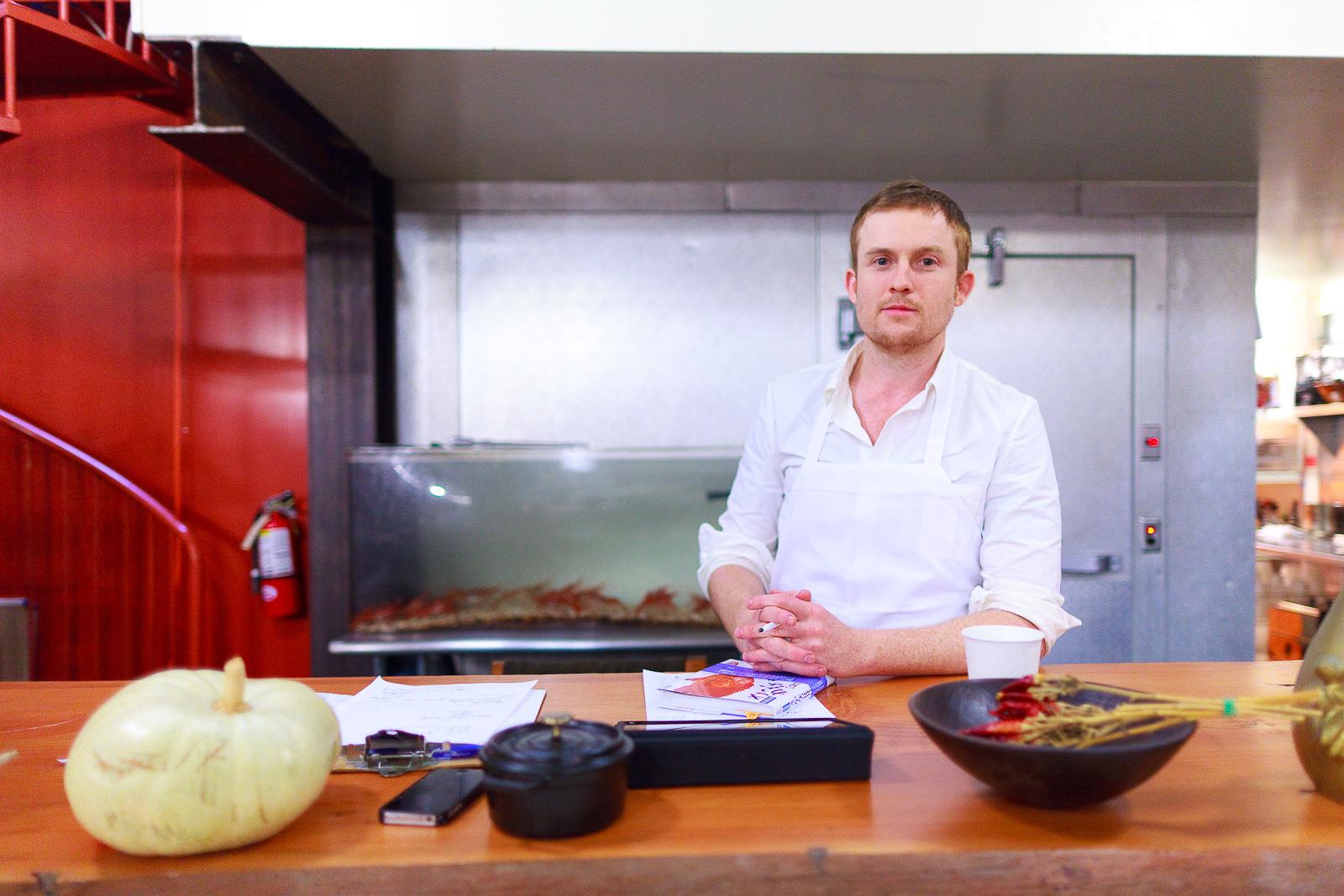 Portrait of Chef Joshua Skenes, Saison, San Francisco