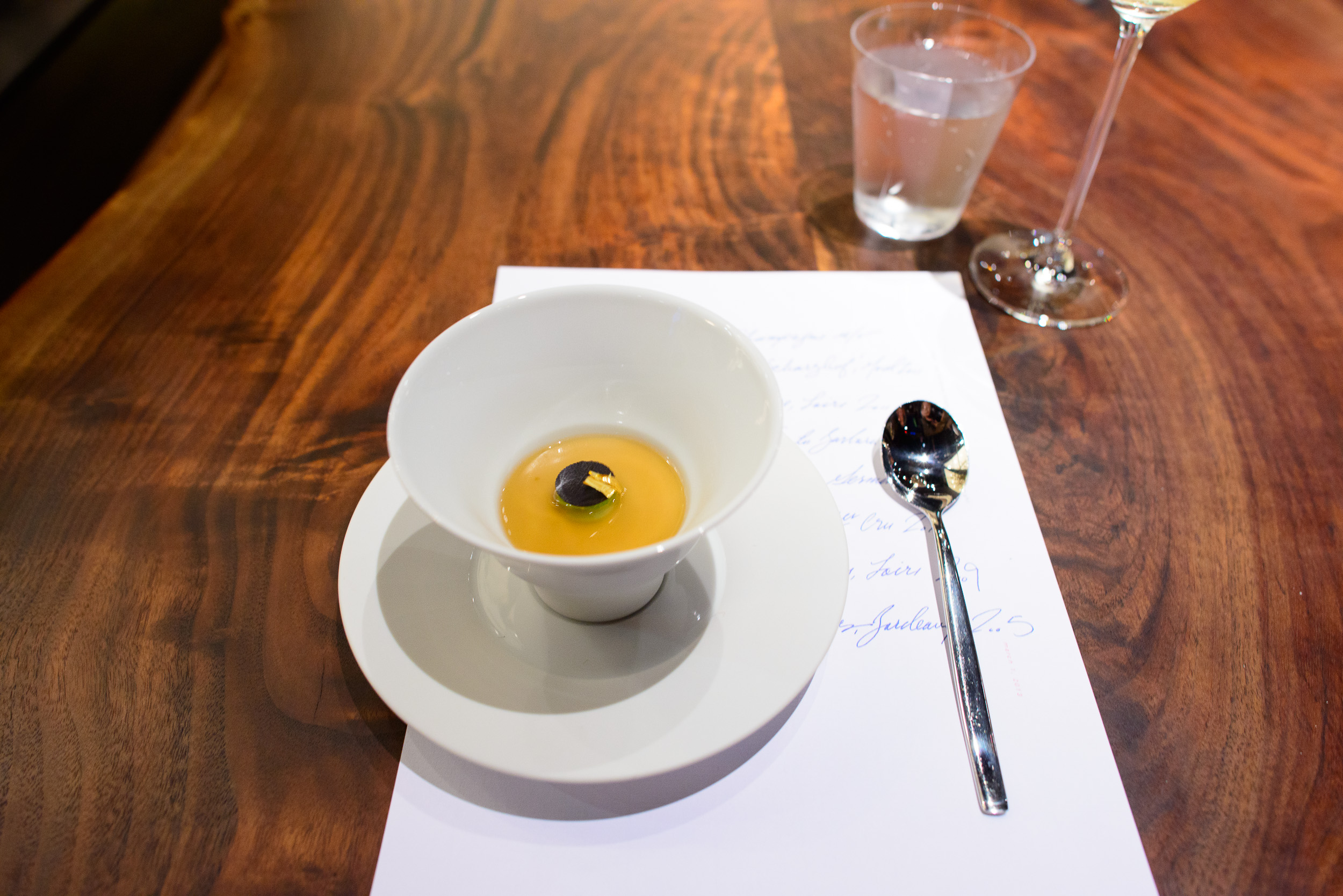 2nd Course: Custard of grilled black truffle