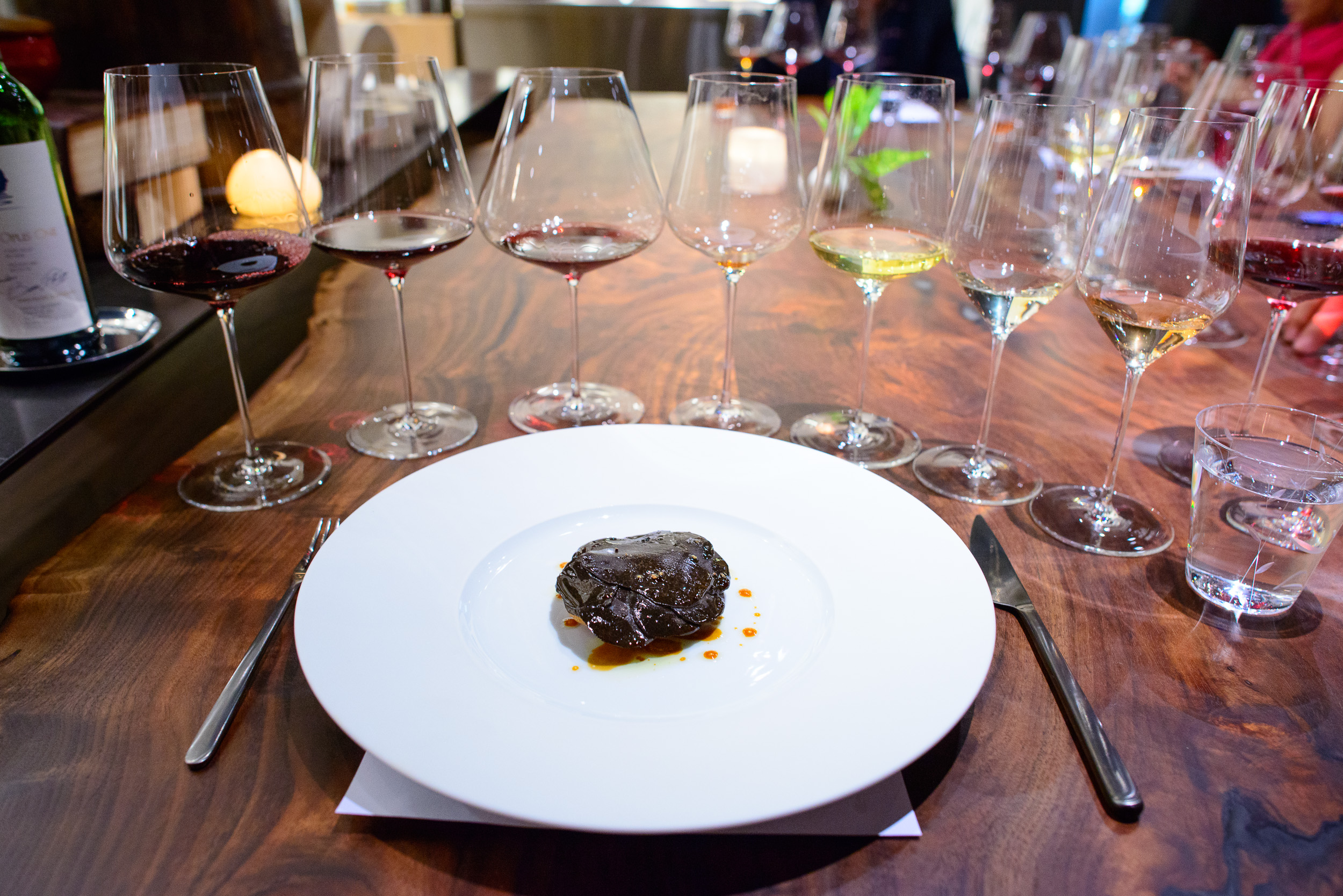 16th Course: Tart of perigord black truffle (slowly grilled in a