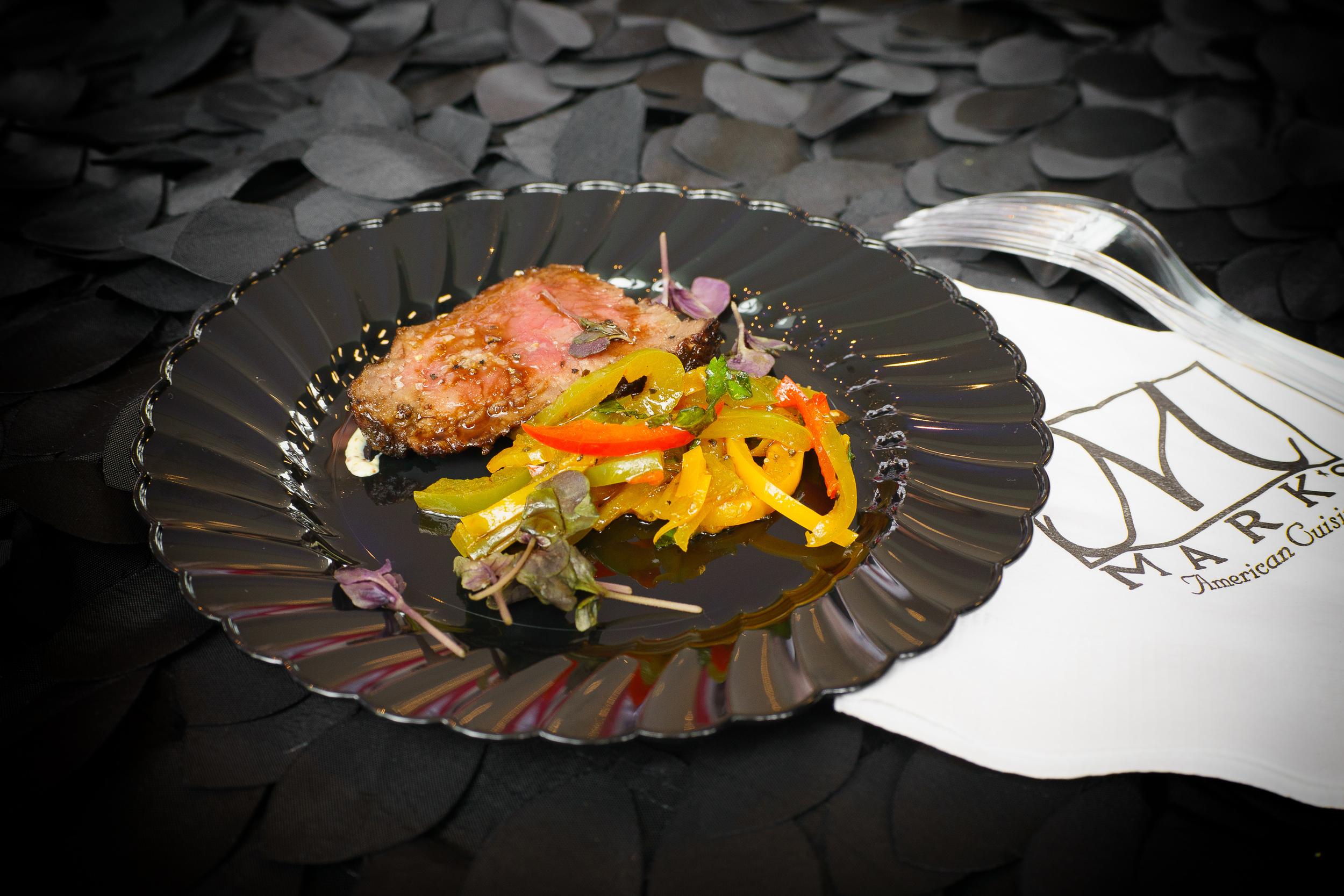 Mark's Cuisine - Roasted striploin, roasted peppers, steak vinaigrette