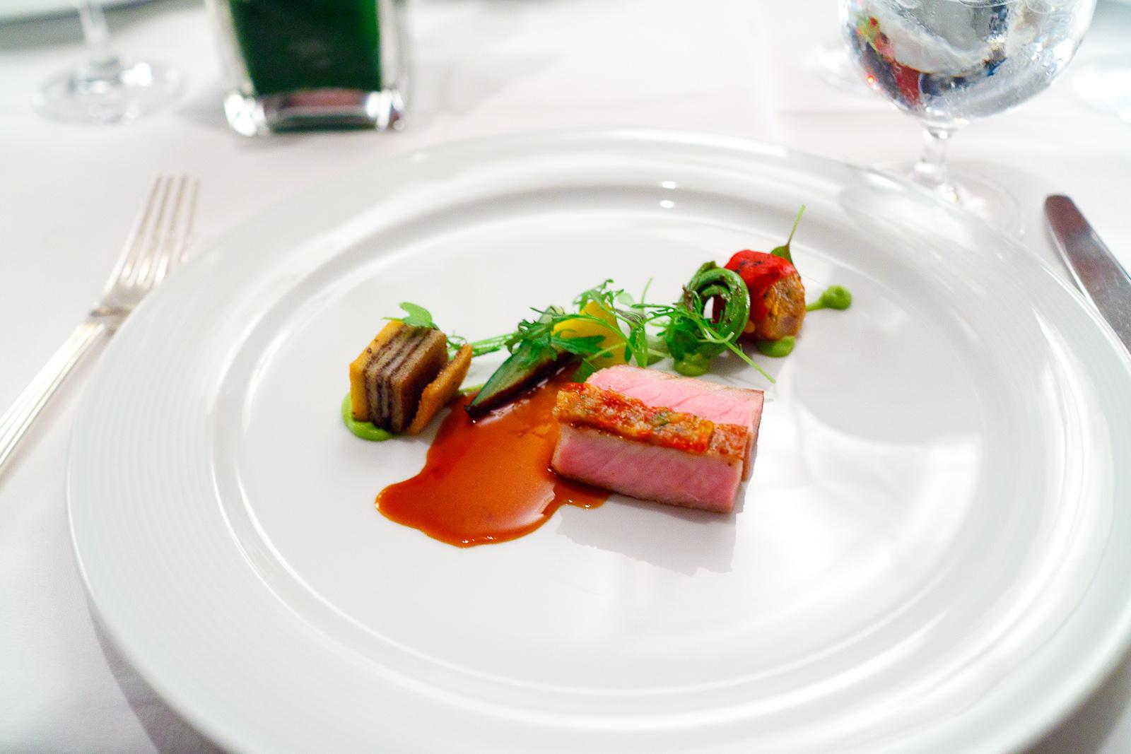 5th Course: Pork loin, chorizo, masa