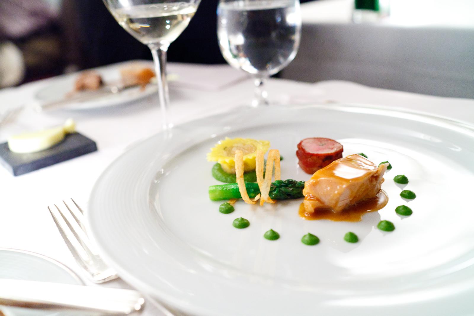 6th Course_ Chicken breast, asparagus, morel mushroom, liver sausage.jpg