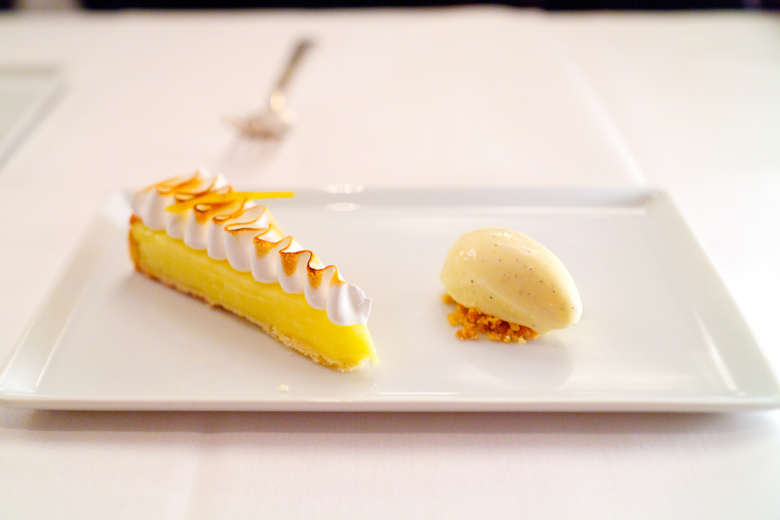 10th Course: Lemon meringue pie, vanilla ice cream