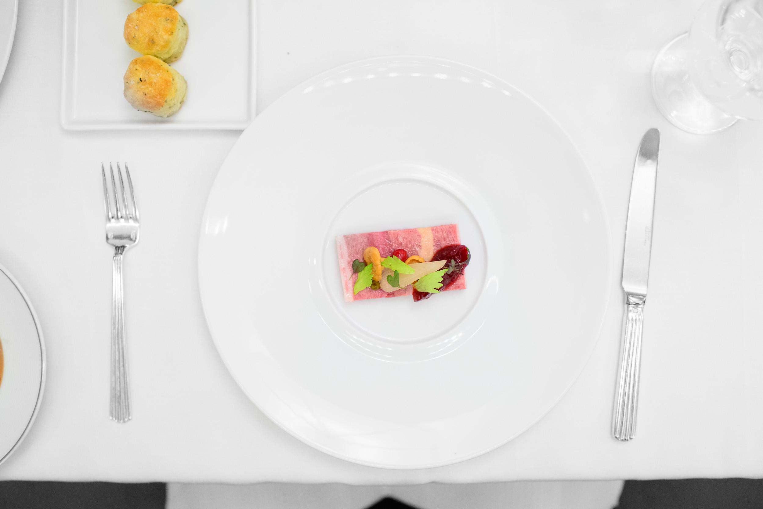 Venison terrine - lingonberry compote, pickled vegetables, rosem