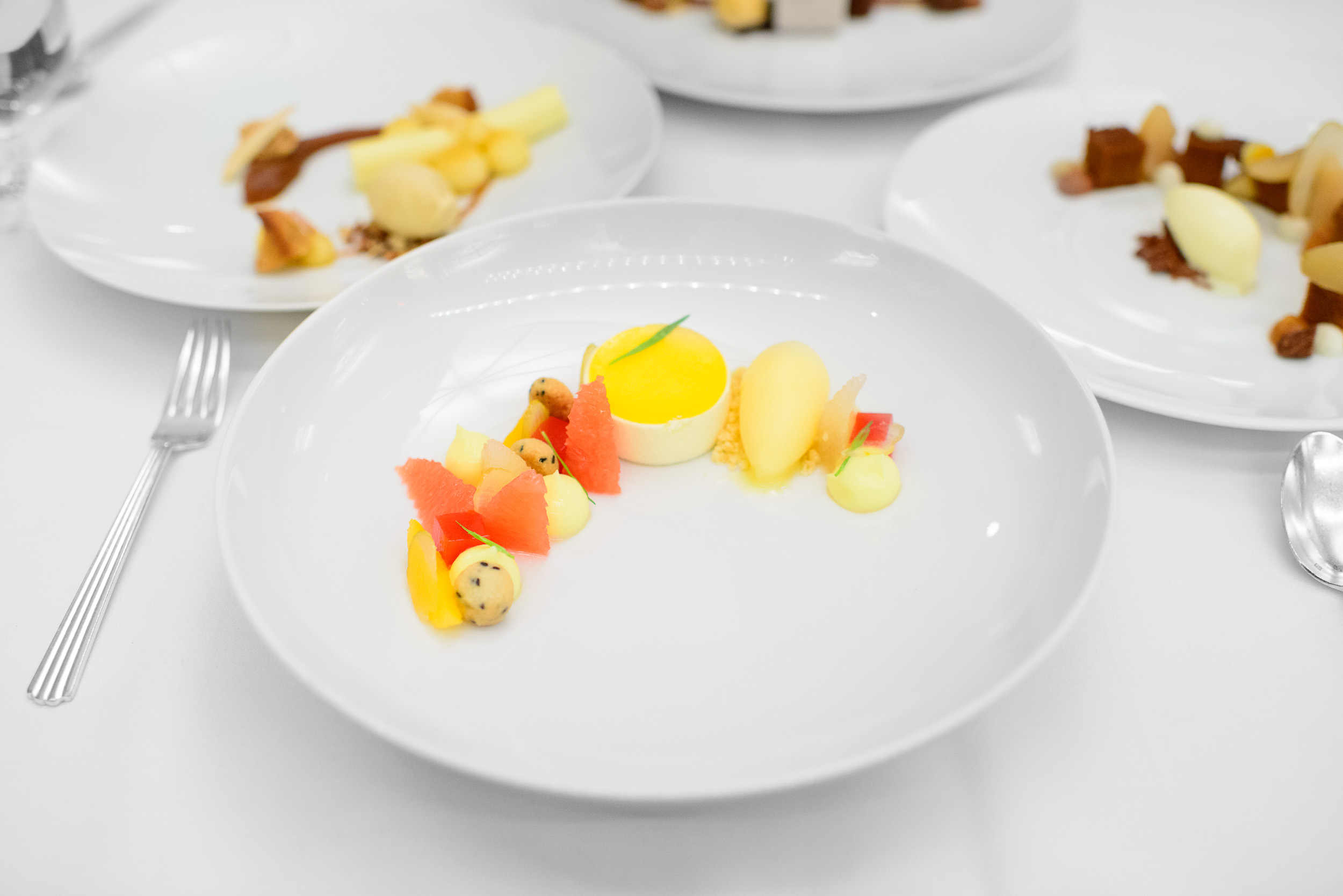Fresh citrus: Meyer lemon, tarragon, mimosa sorbet