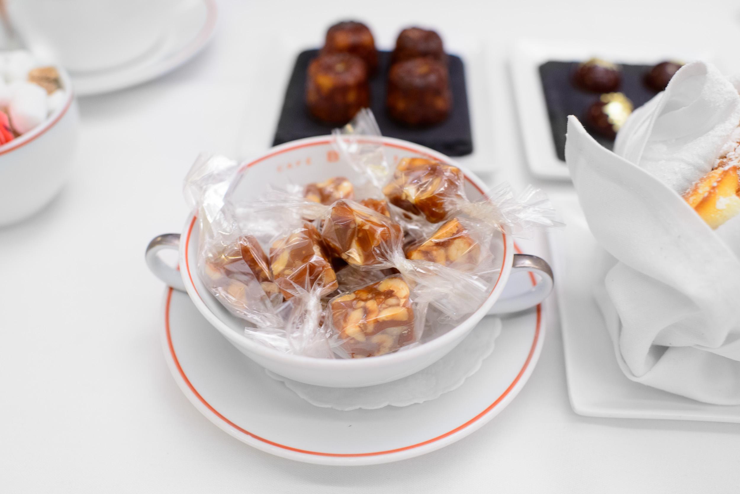 Caramel and hazelnut