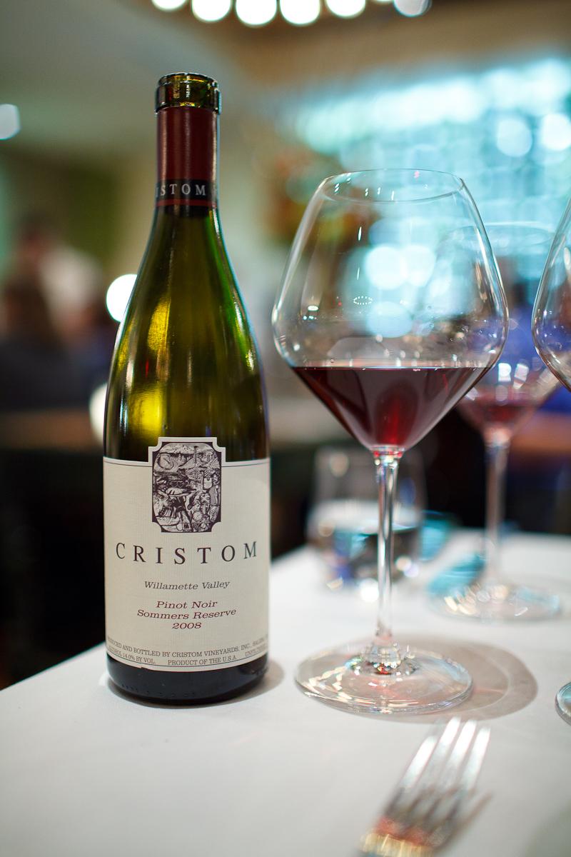 "Cristom 2008 Pinot Noir, ""Sommers Reserve,"" Willamette Valley, Oregon"