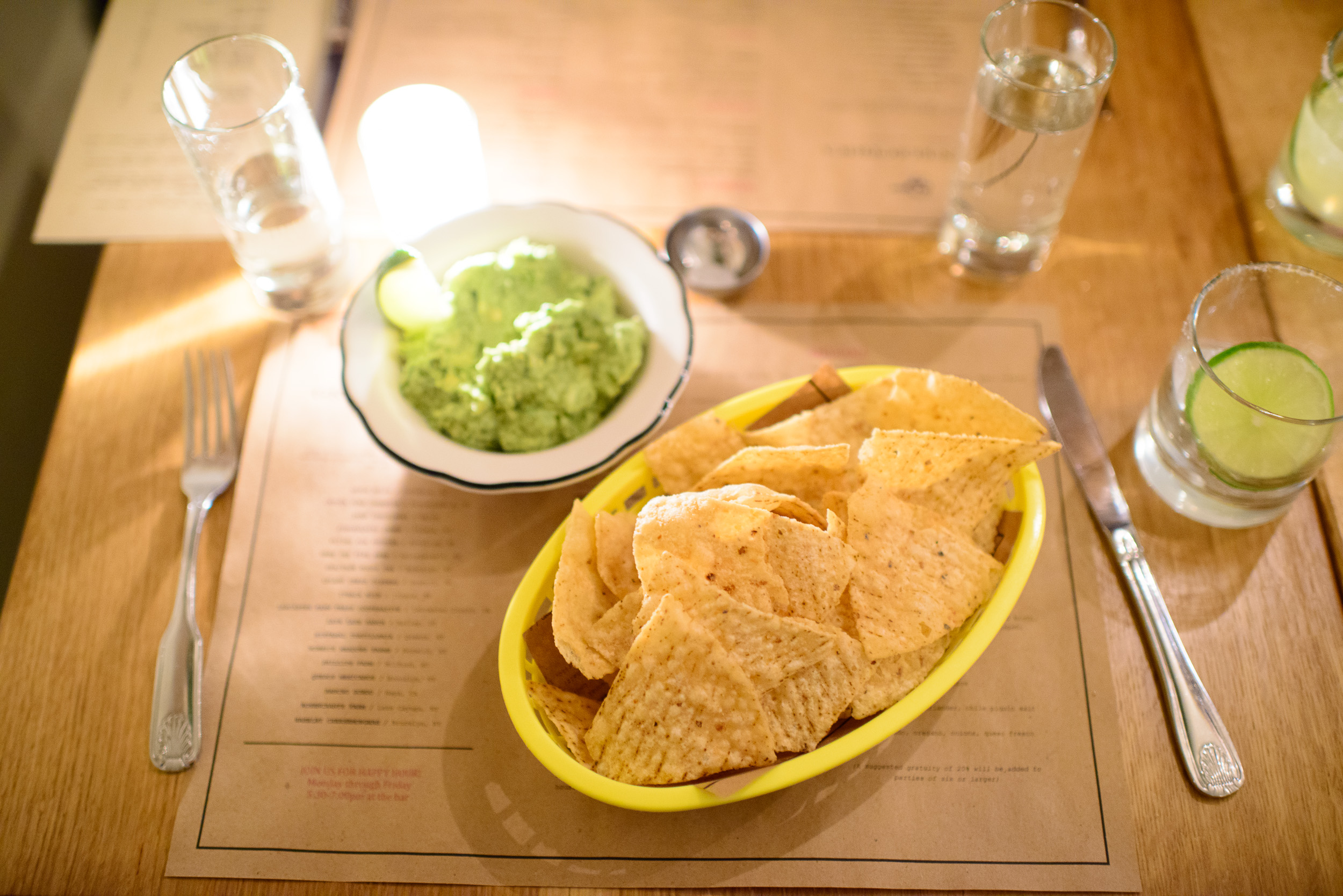 Guacamole, basket of corn chips ($8)