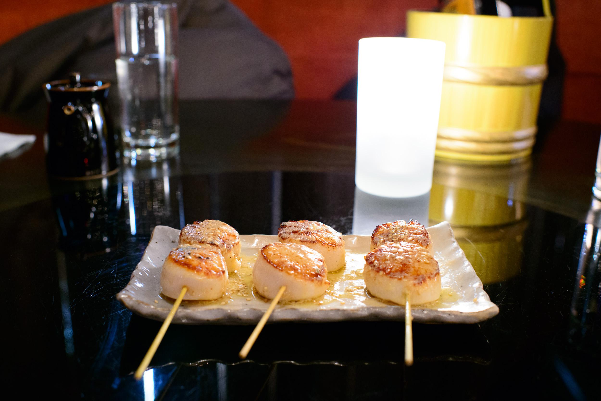 Roasted sea scallops, miso butter