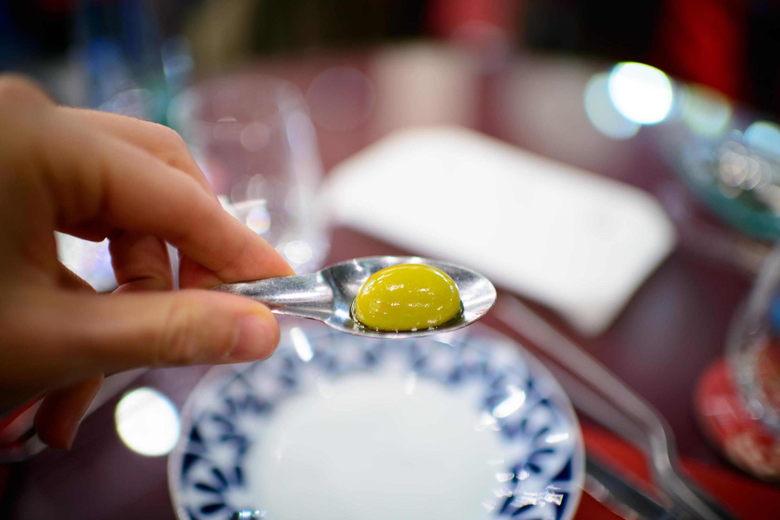 2nd Course: Las olivas de Tickets: gordal adobada, up close