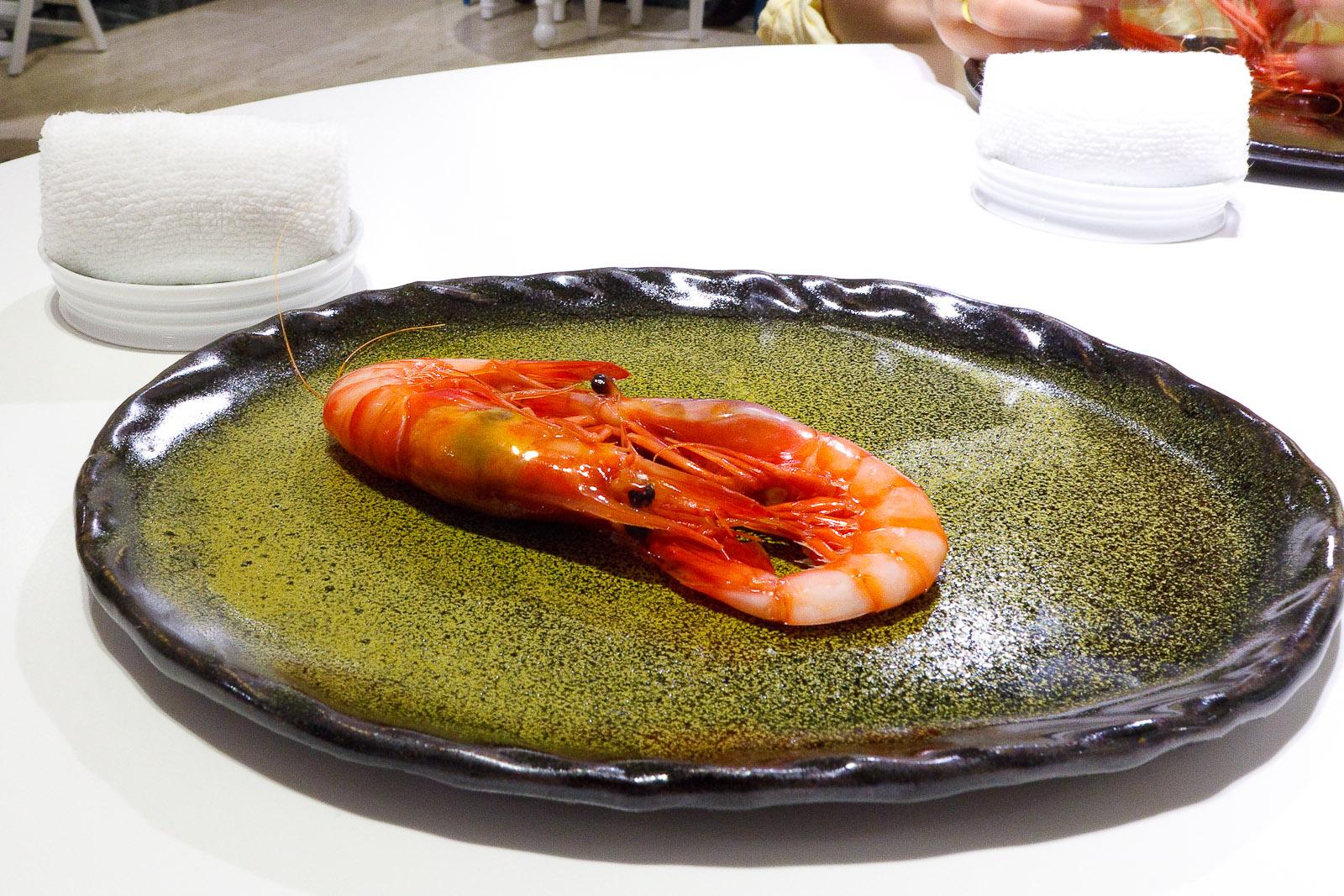 7th Course: Denia bay prawns