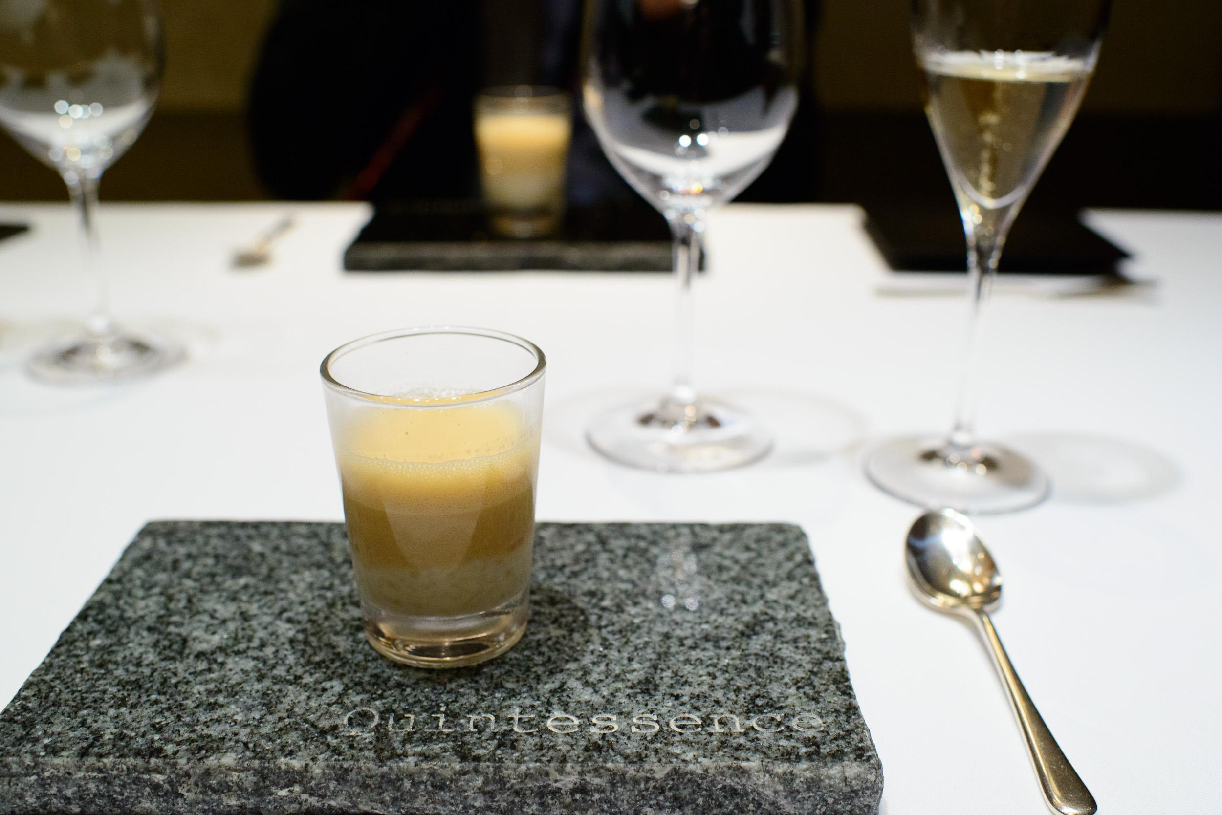 2nd Course: Soupe oignon sans gratinée froid (cold grainated on