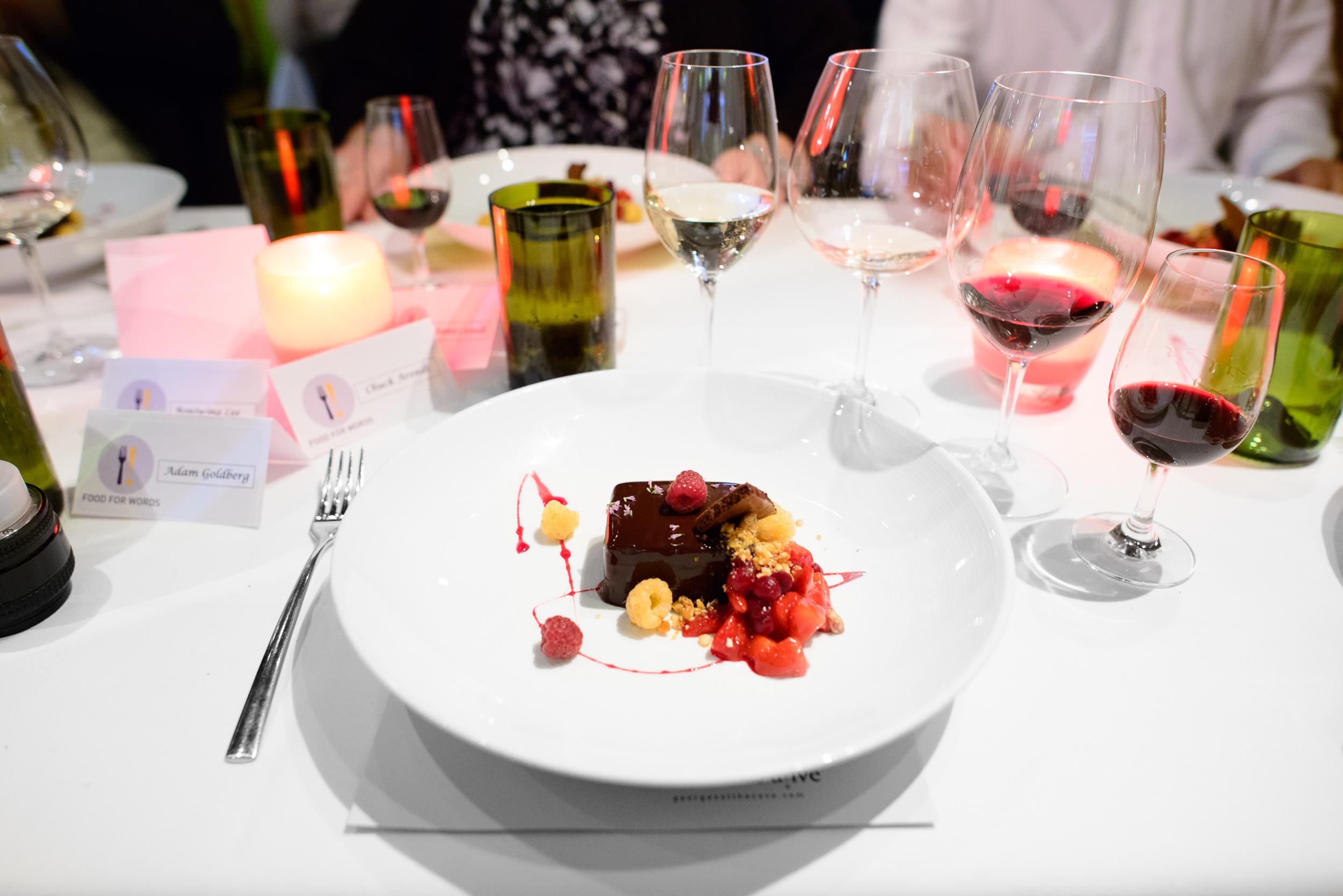 7th Course: Chocolate, beets, strawberries, raspberries, hazelnu