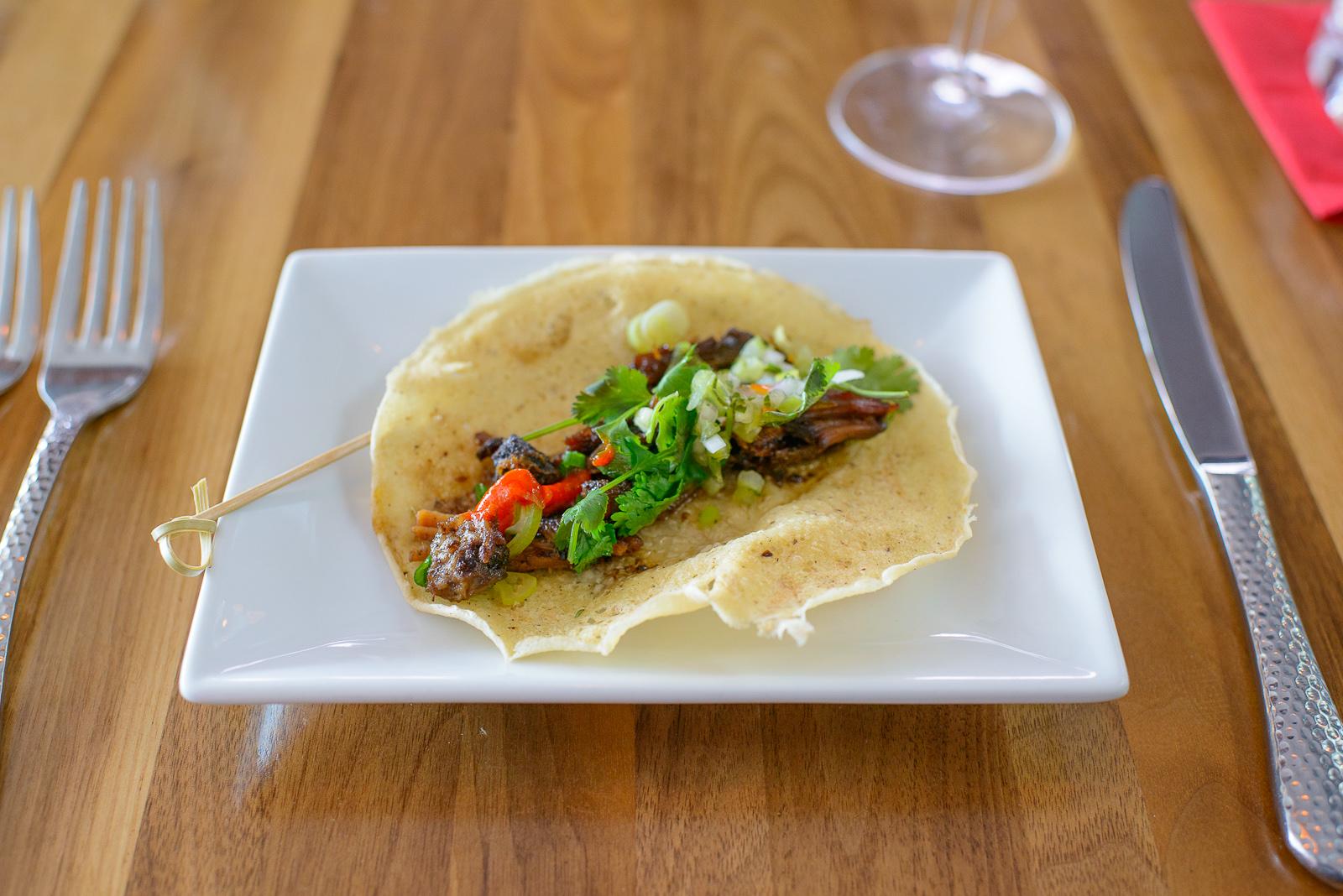 3rd Course: Asado de cochinillo, cerdo marinado en salsa dulce (