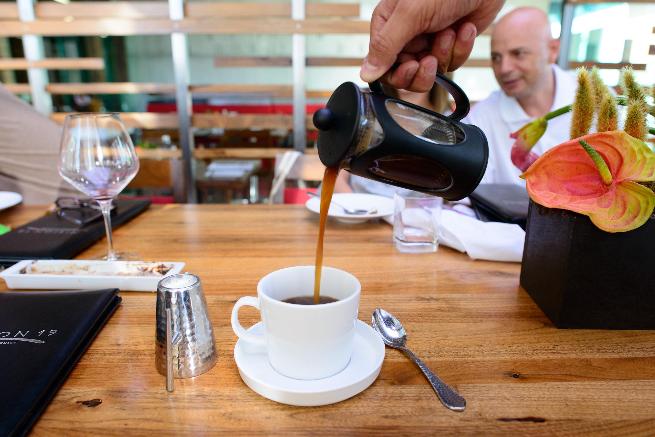 French press Oaxacan coffee