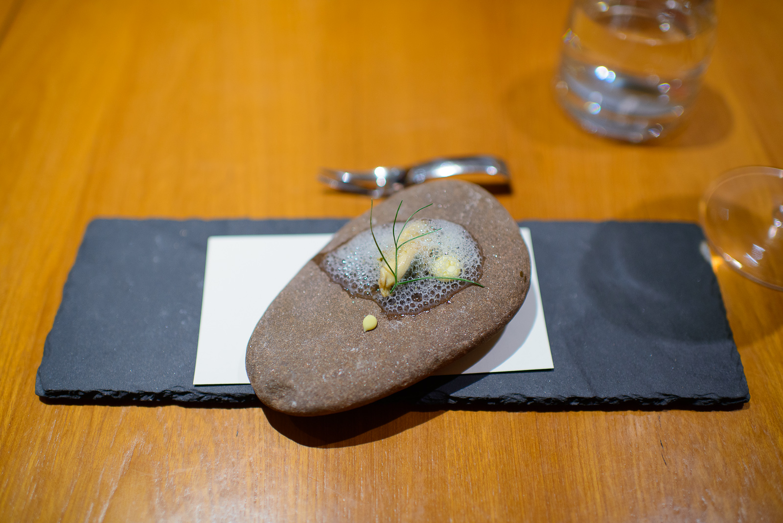 Amuse bouche 2: Prince Edward Island mussels cooked escabeche, s
