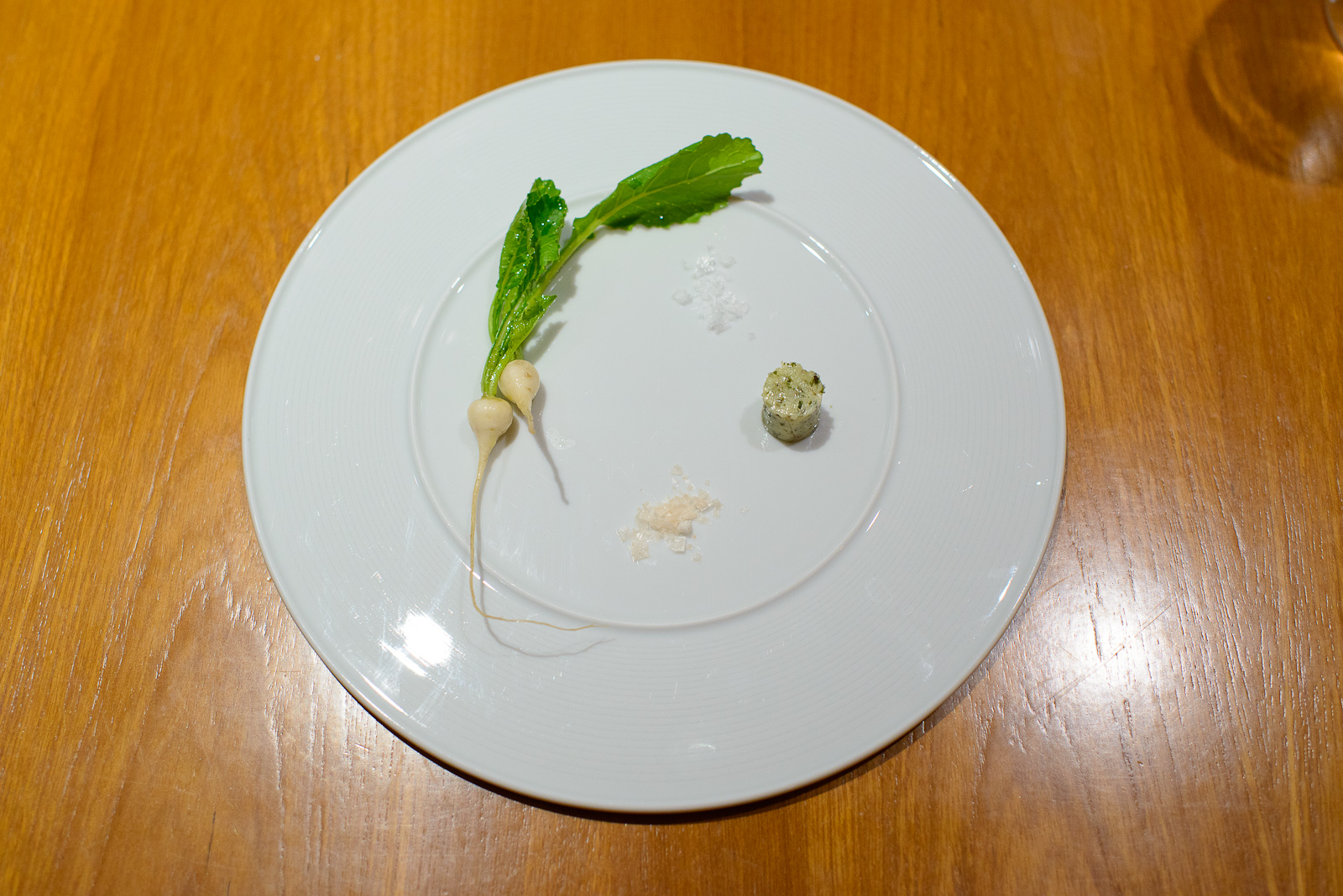 2nd Course: Take on radish and butter, this time with turnips fr