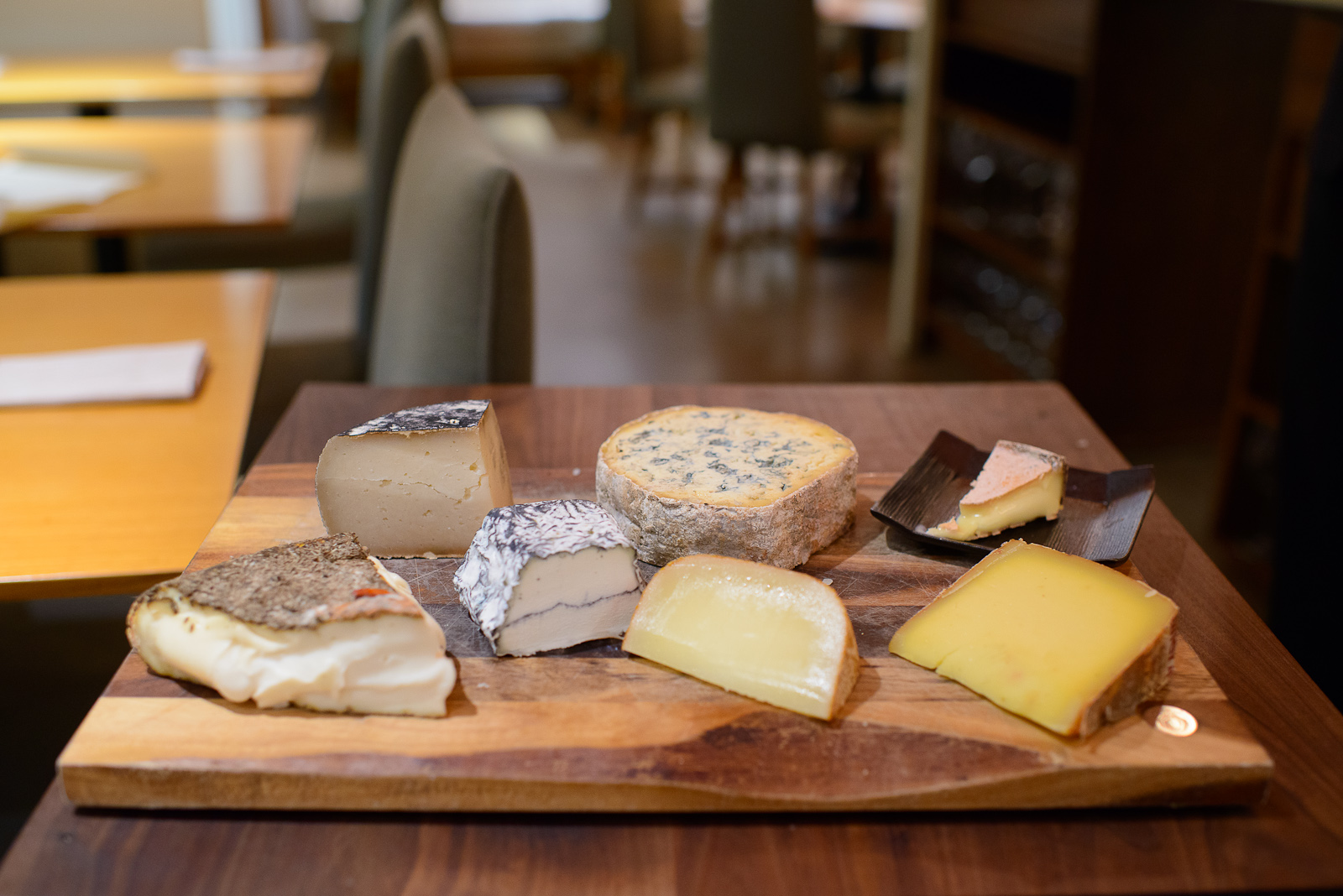 Assorted cheeses both European and domestic