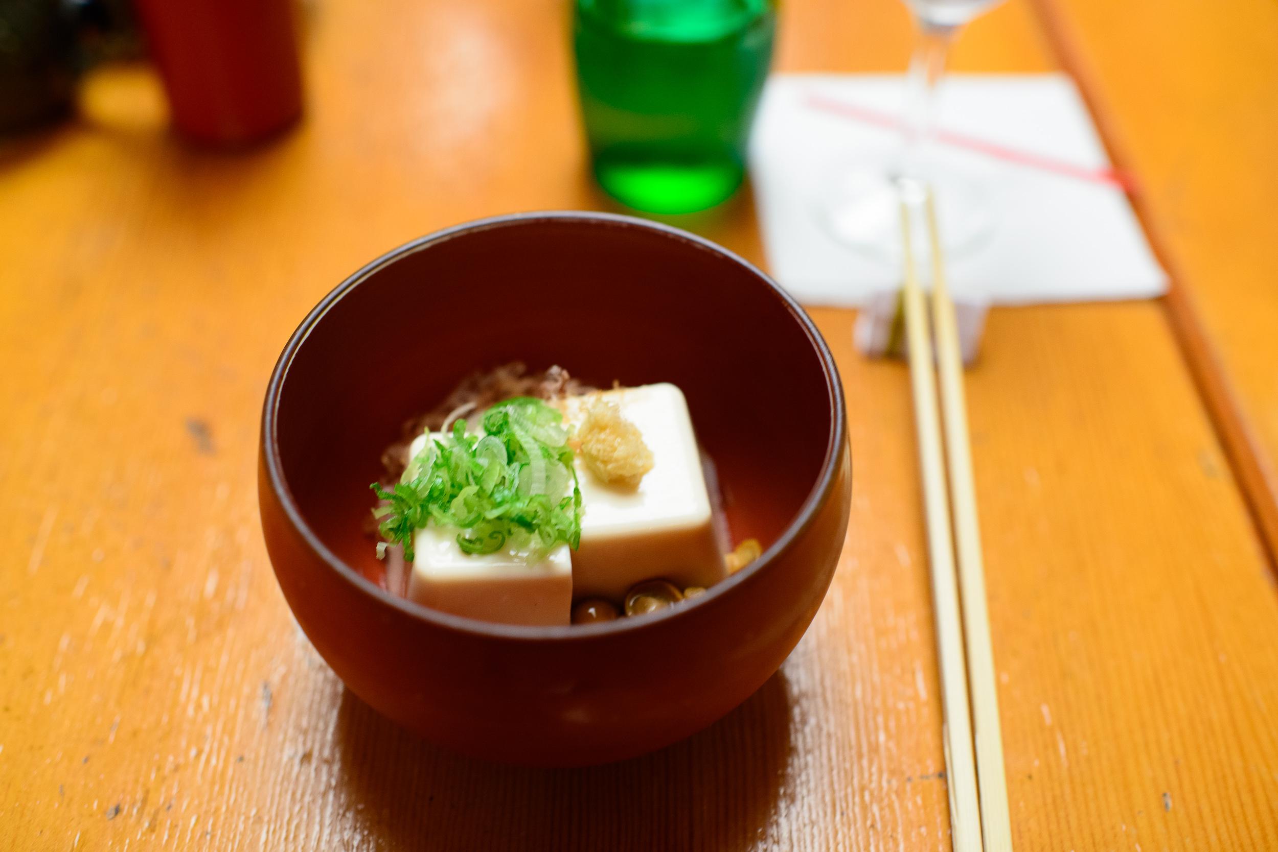 Tofu salad, mushrooms