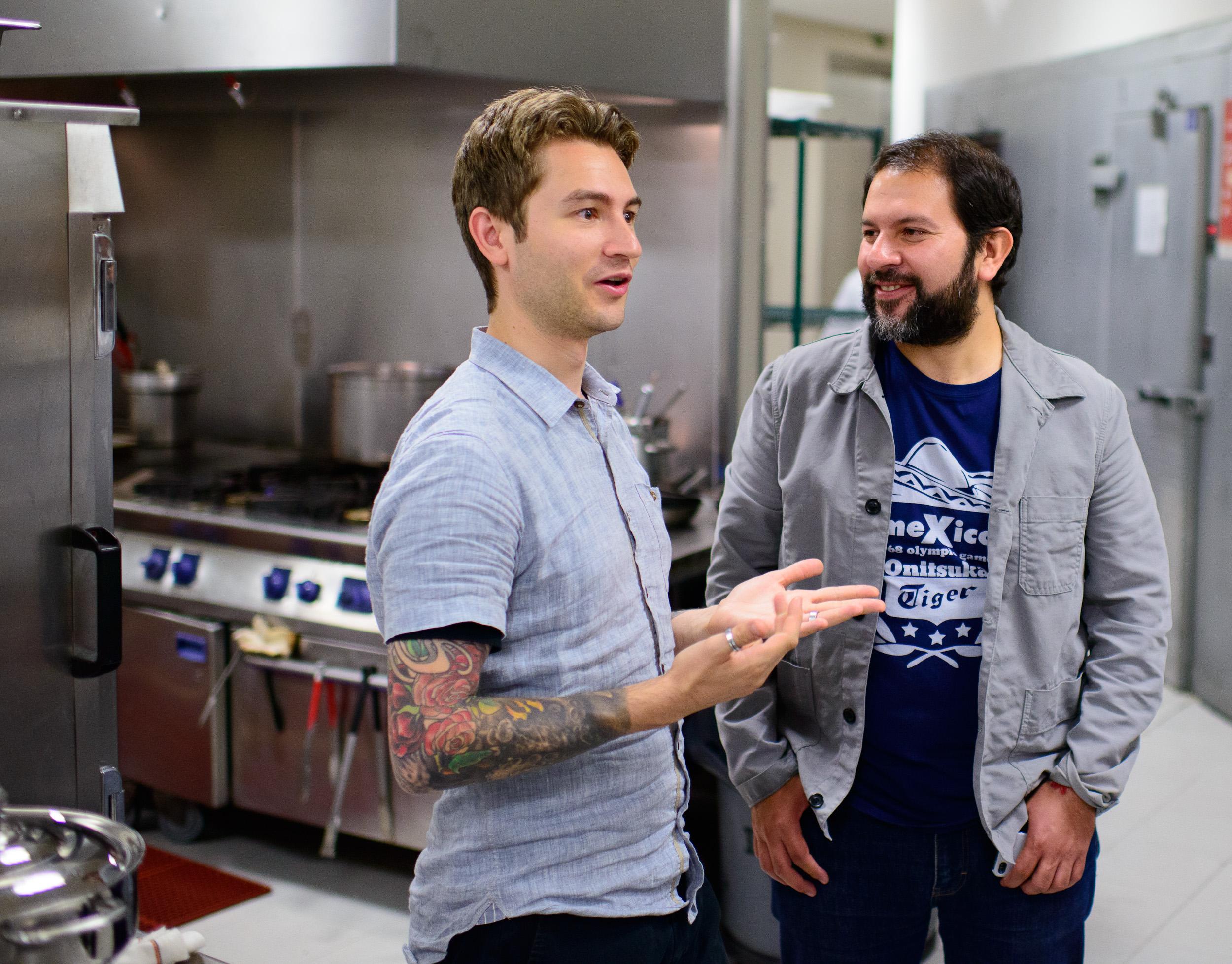 Chefs Alex Stupak and Enrique Olvera