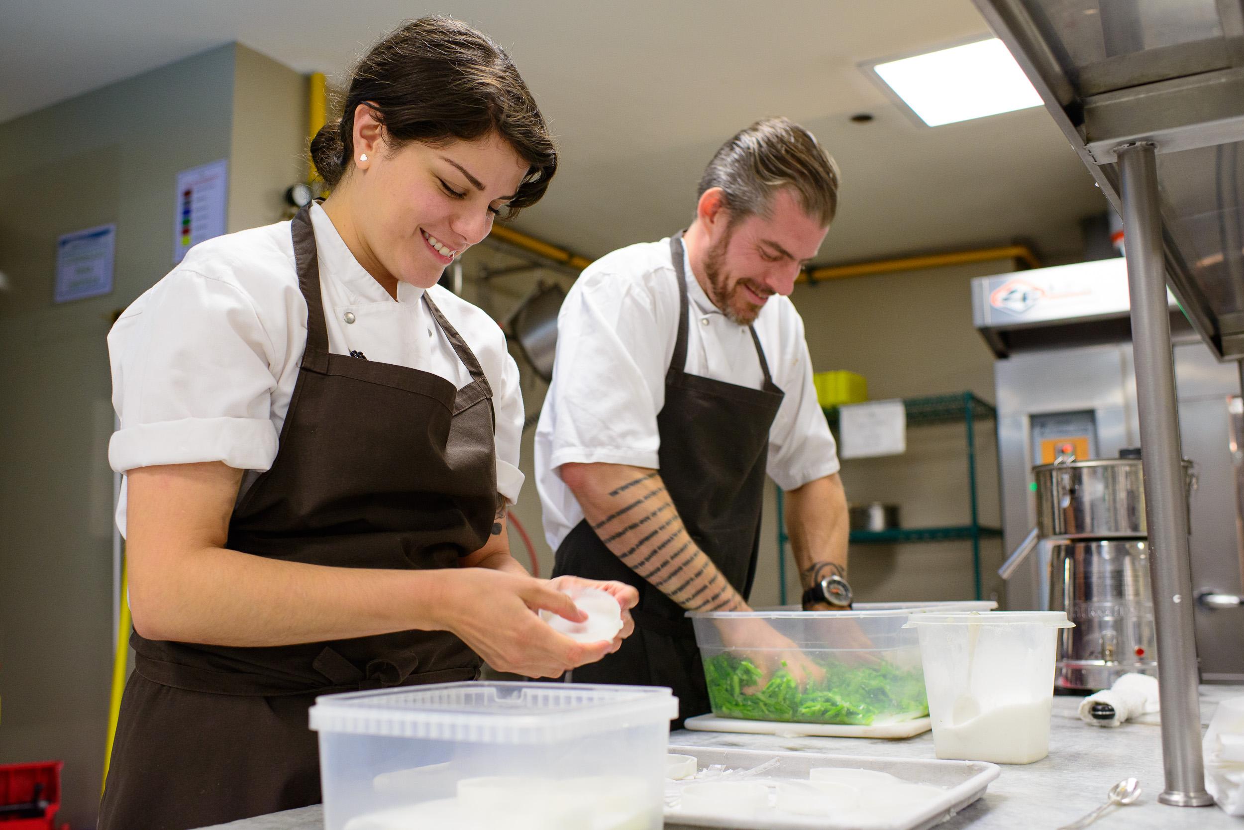 Chefs Rosio Sanchez (Noma) and Lars Williams (Nordic Food Lab)