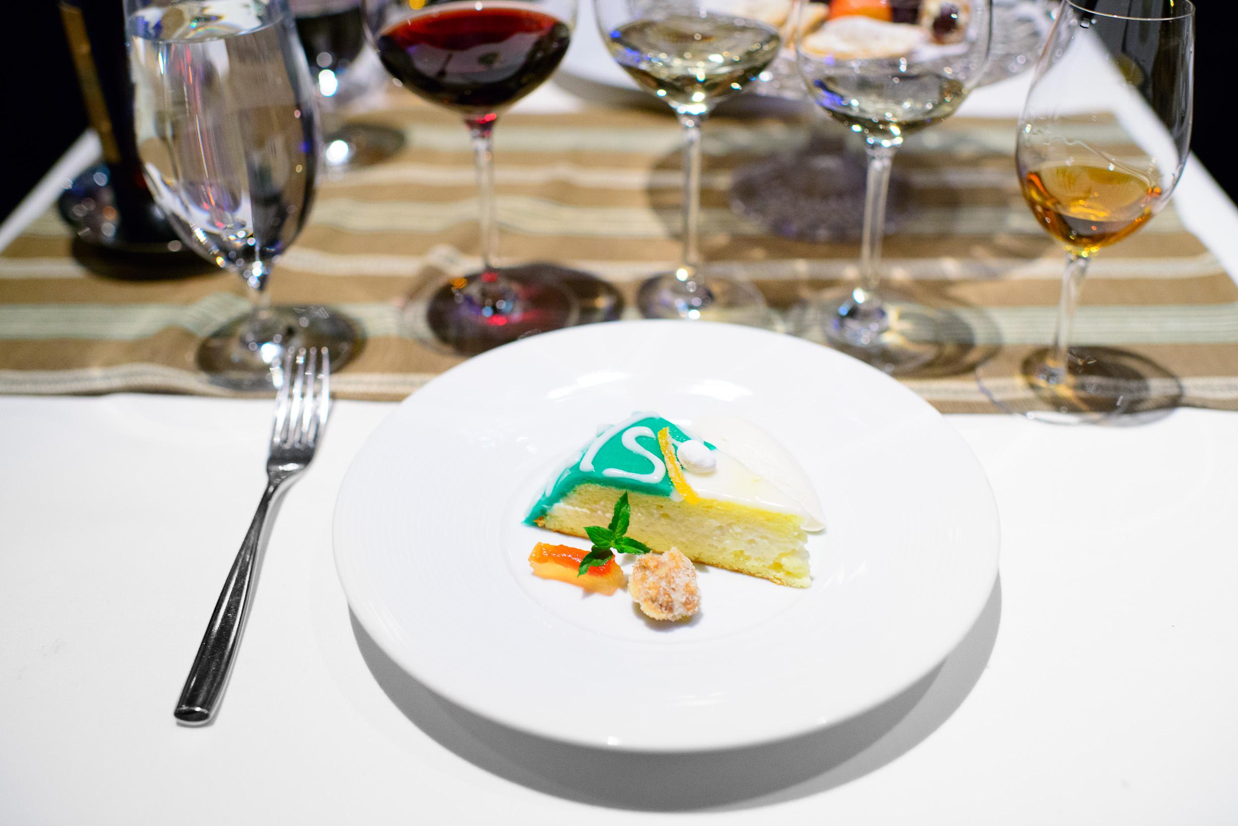 8th Course: Cassata (A slice of marzipan-ricotta cake)