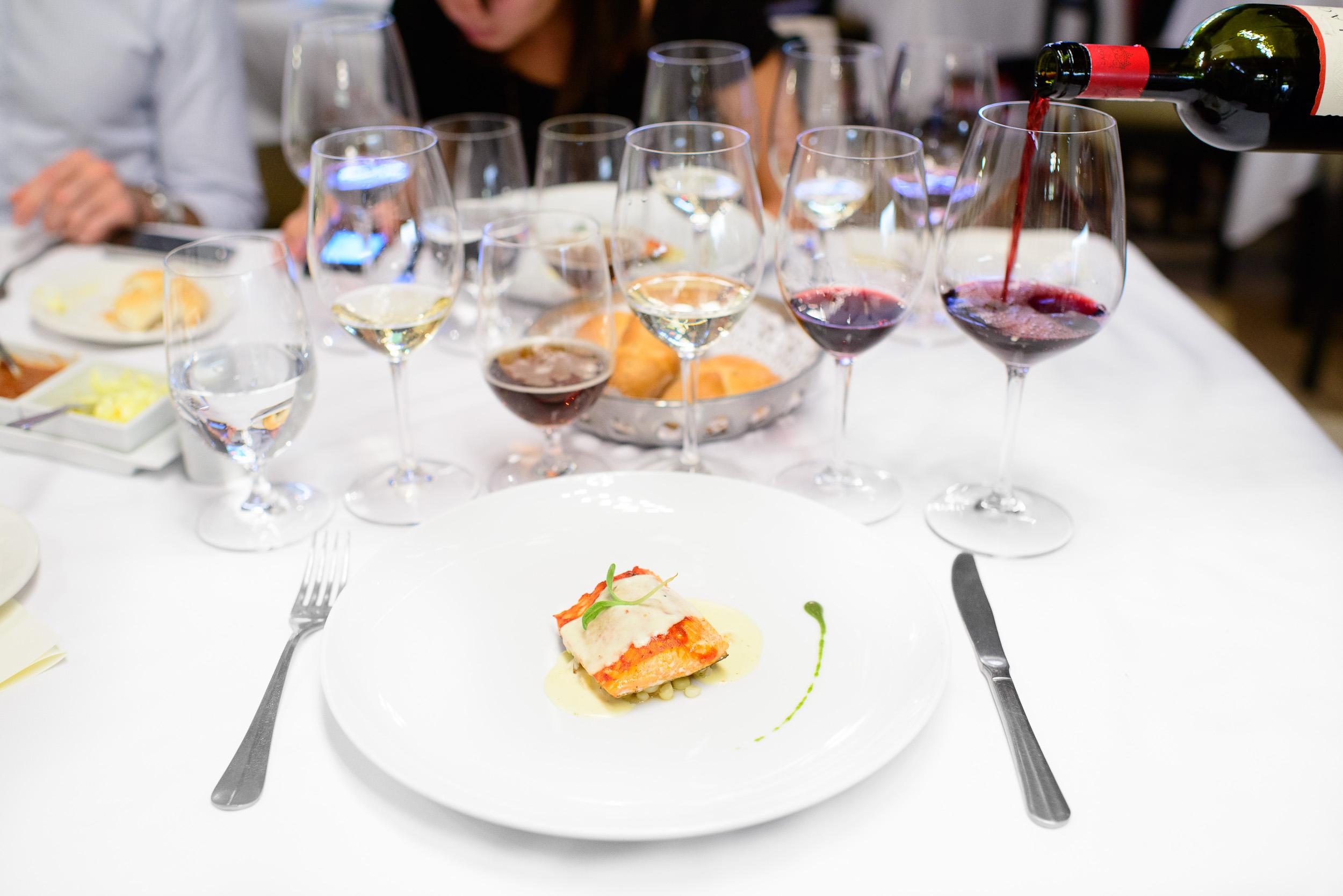 7th Course: Nuestro salmón marinado en adobo y preparada a las