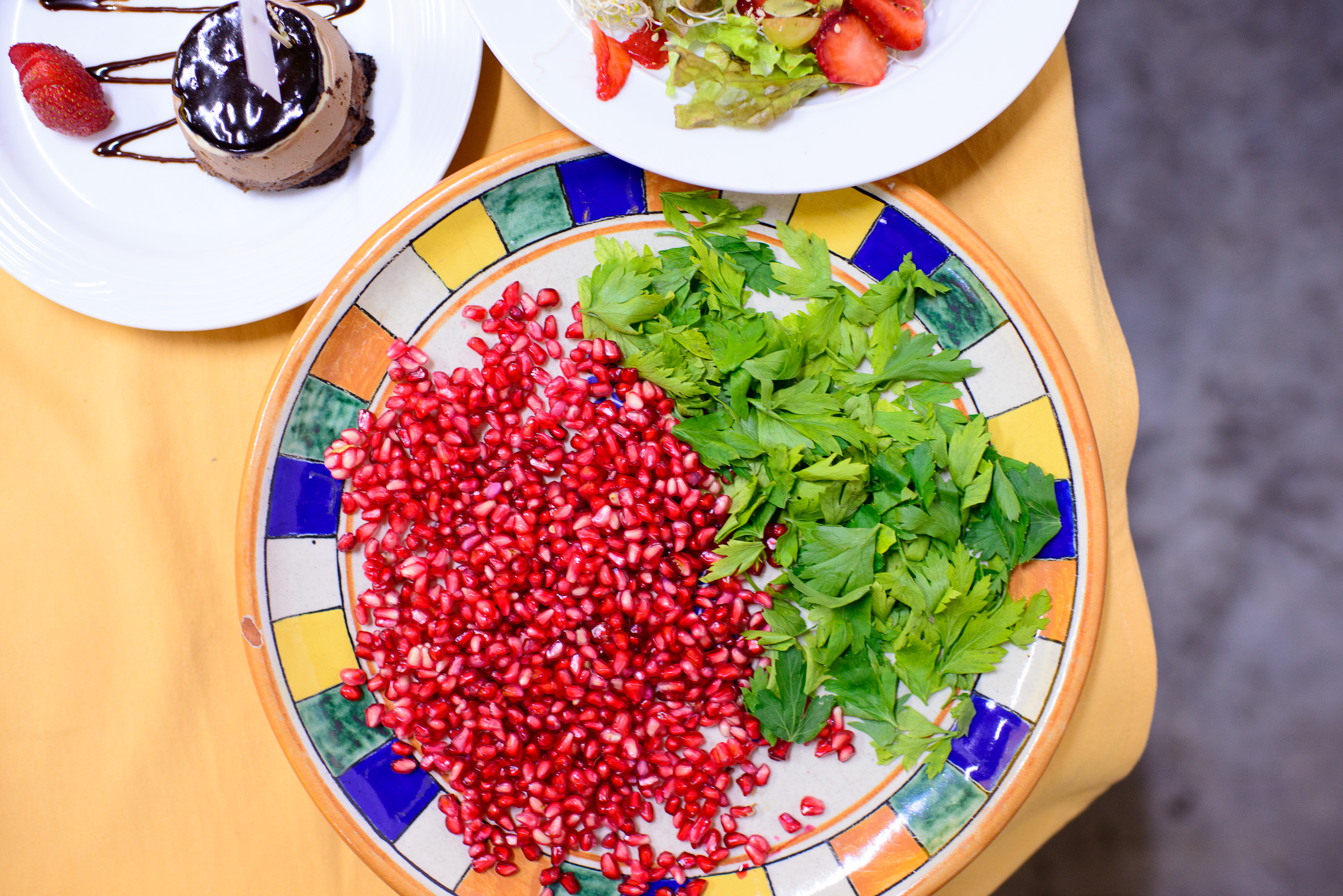 Pomegranate and parsley