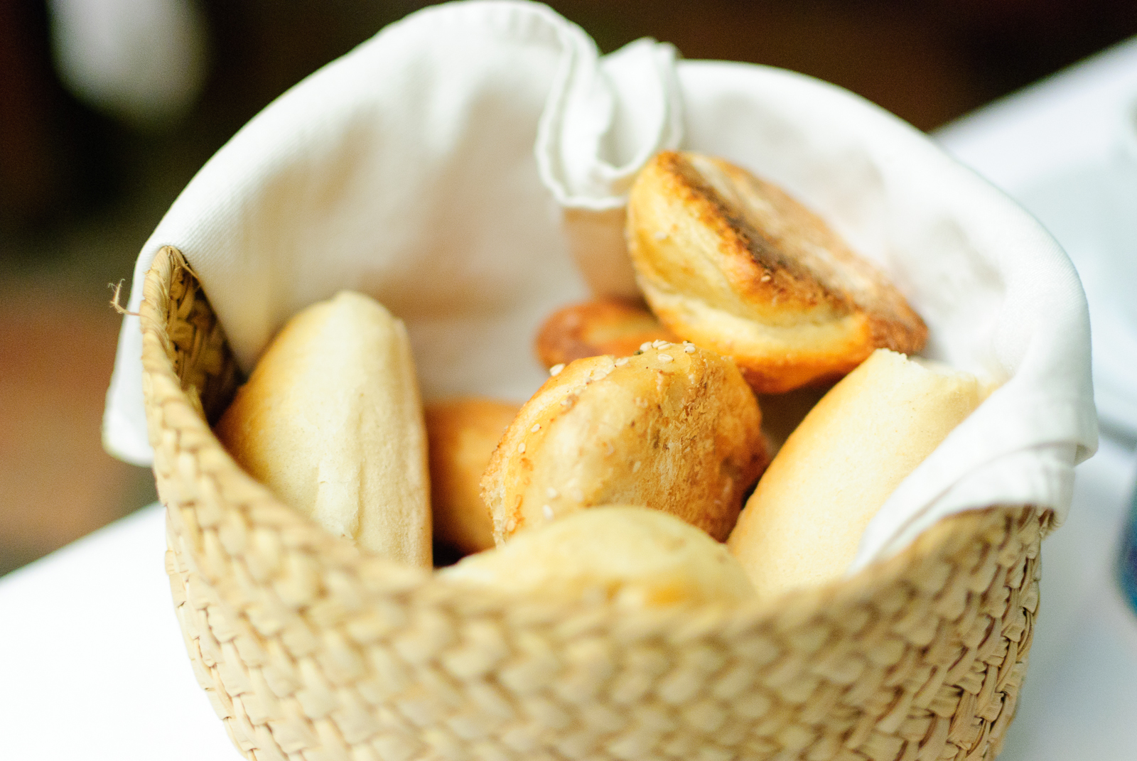 Bread basket - sesame and local wheat