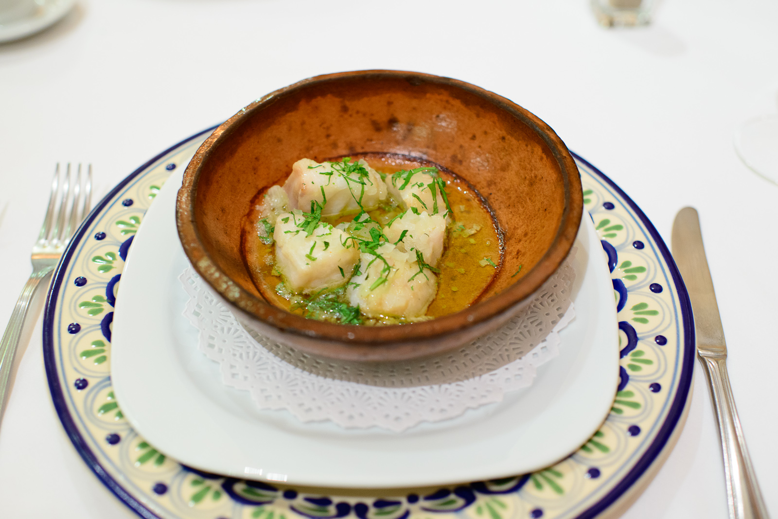Robalo en cazuela - Snook cooked in a cazuela with butter, olive