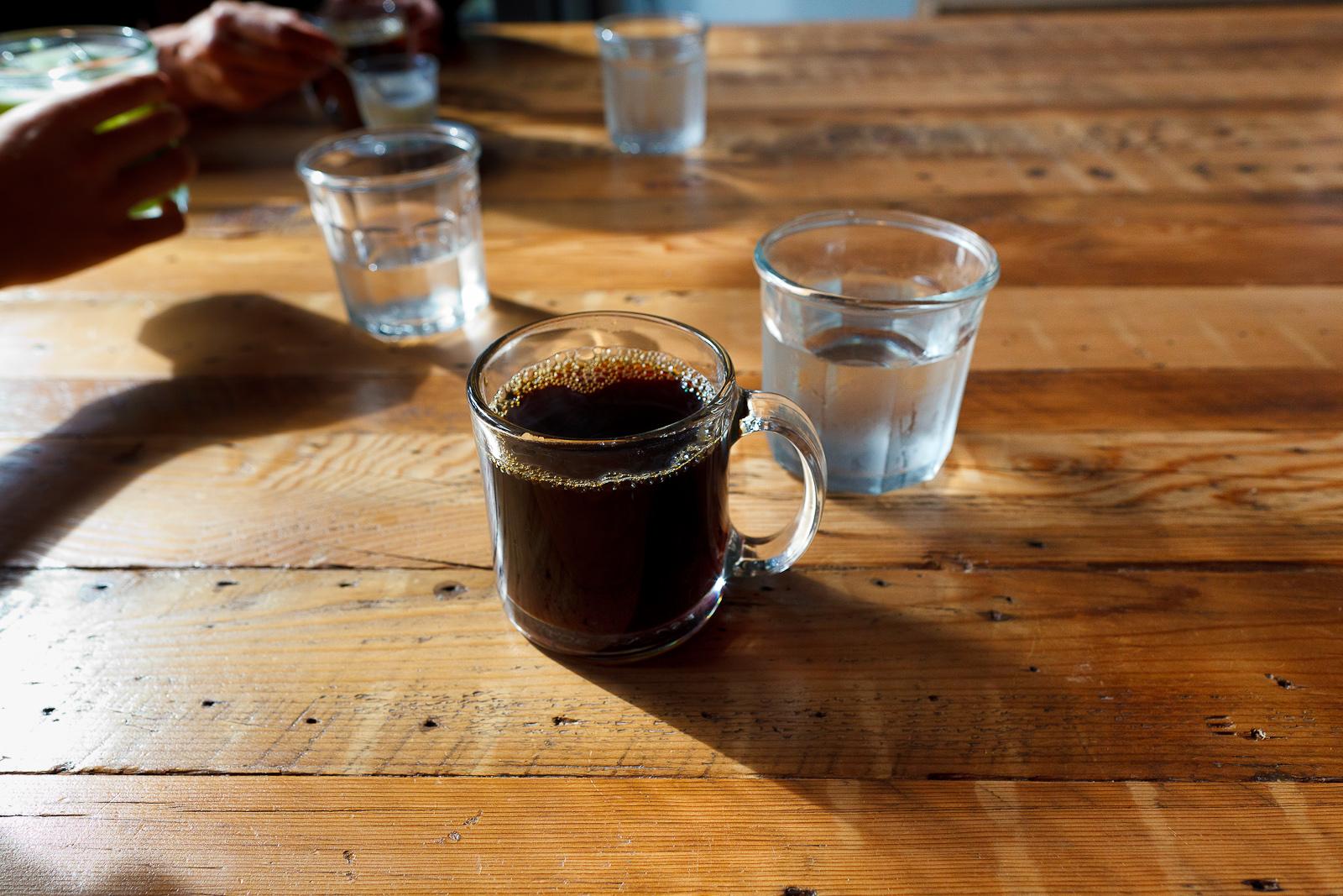 V60 Brazilian Daterra decaffeinated pour over coffee