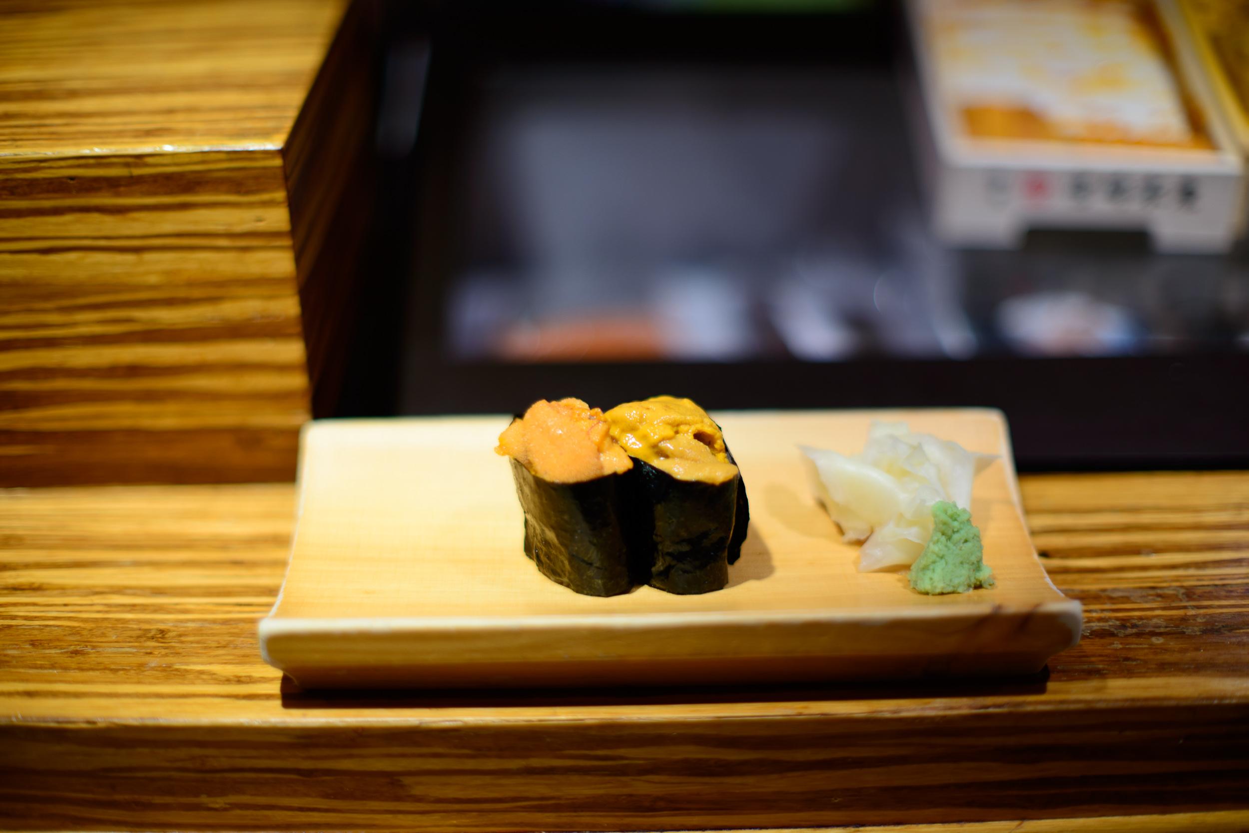 4th Course: Hokkaido and Santa Barbara sea urchin