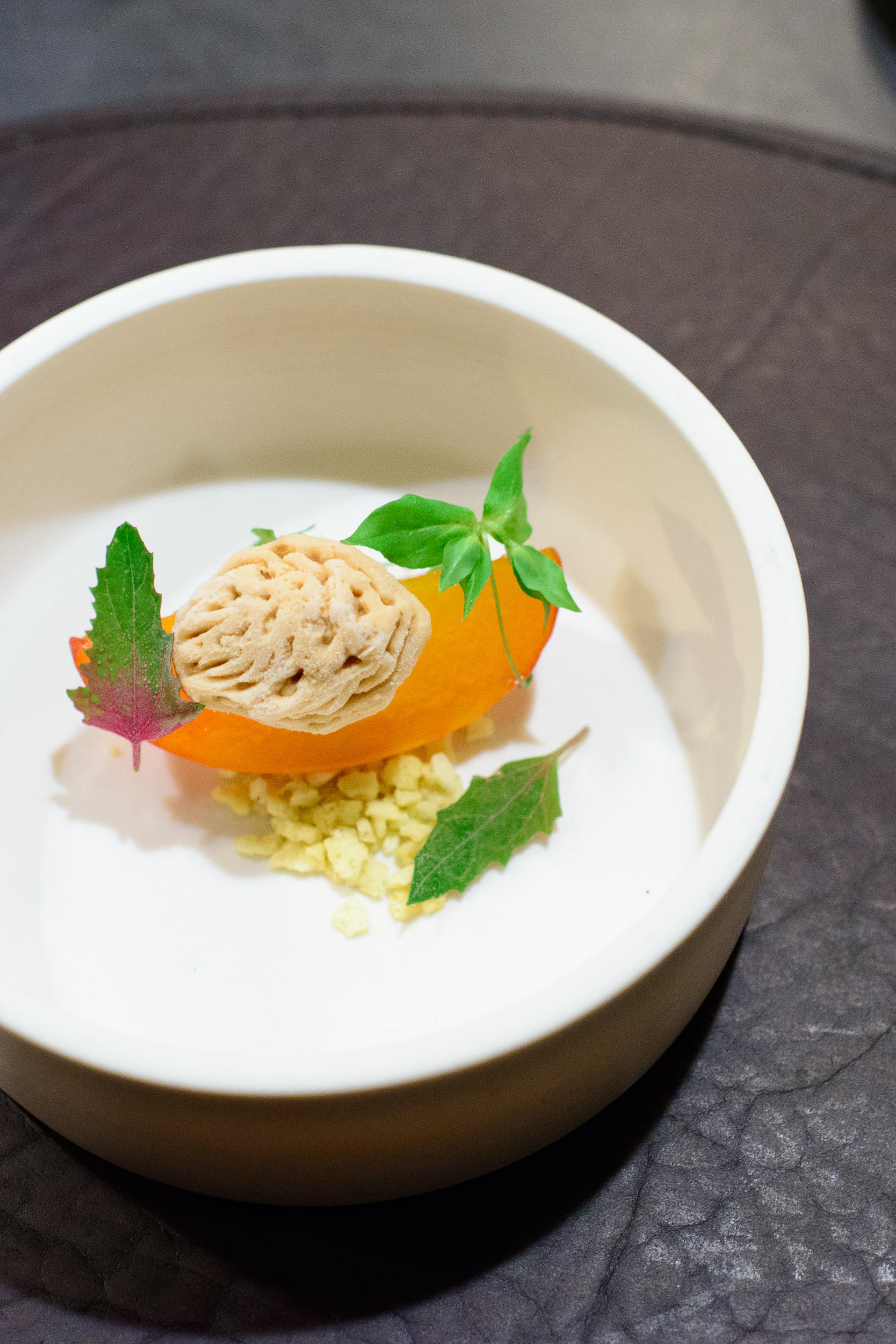 18th Course: Peach, sunflower toffee