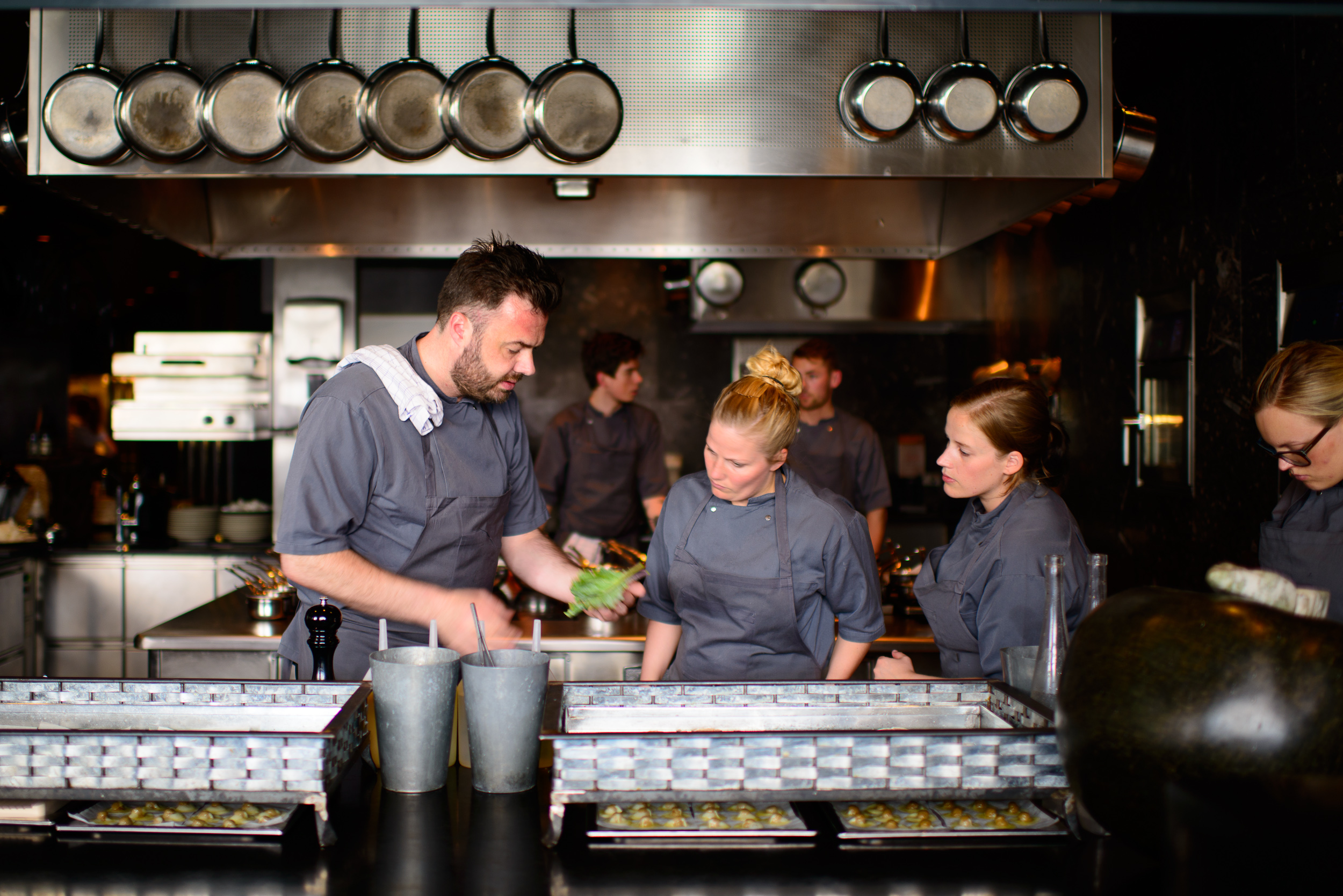 Chef Bo Bech and his team