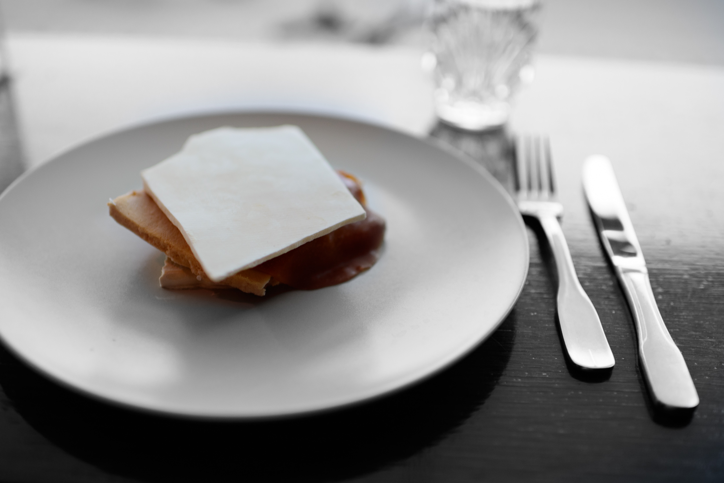 10th Course: Cream, Salted Caramel, Horseradish