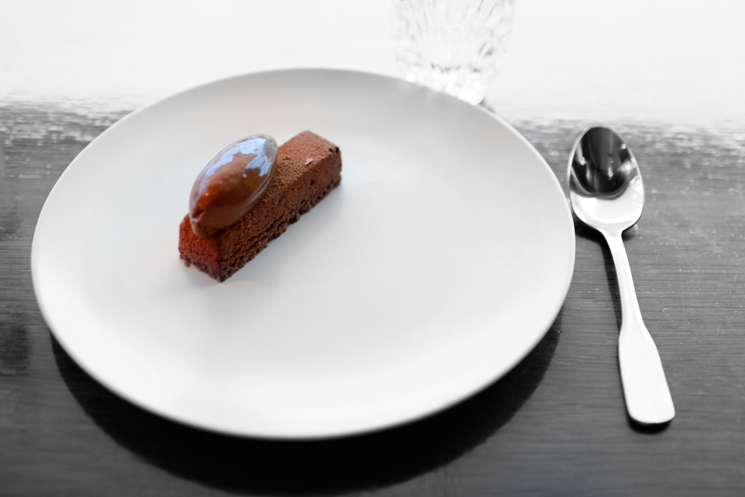 11th Course: Chocolate mousse, chocolate sorbet