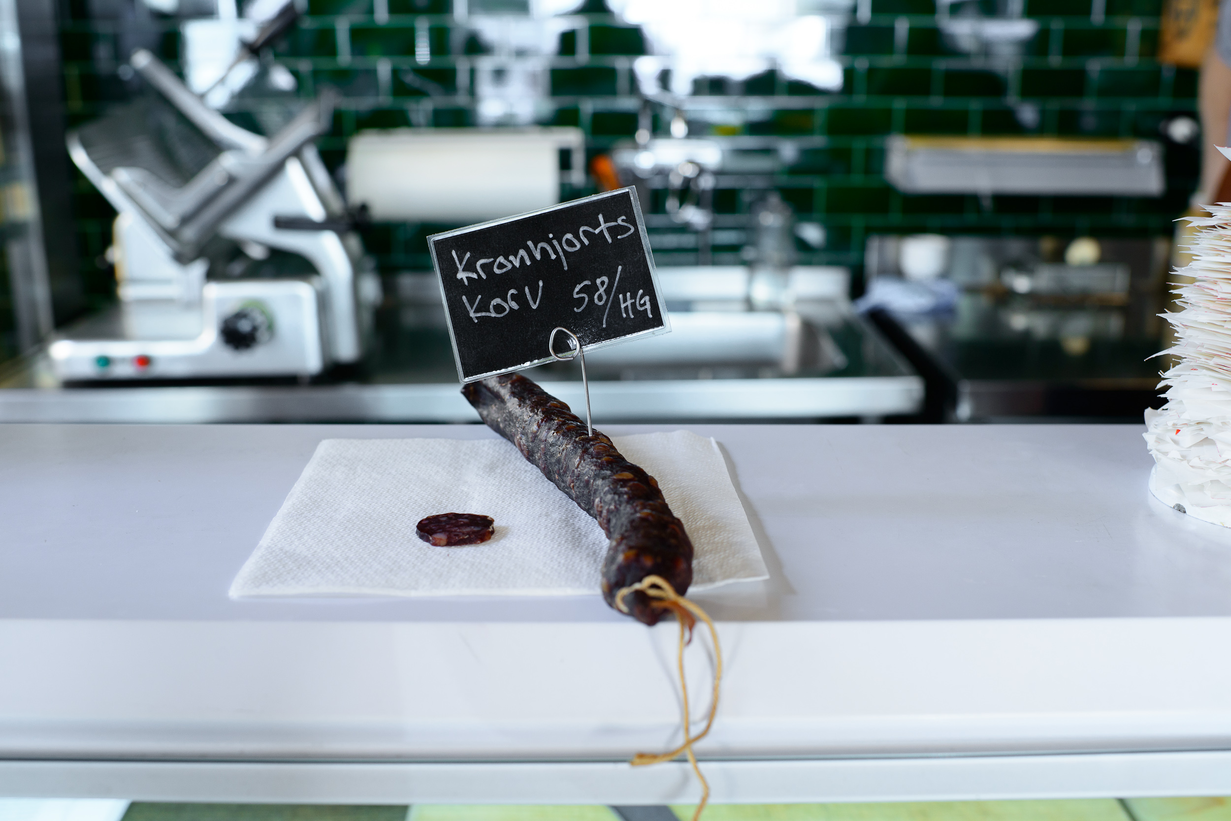 Oaxen Cold smoked wild deer sausage (stored 4 months), forests o