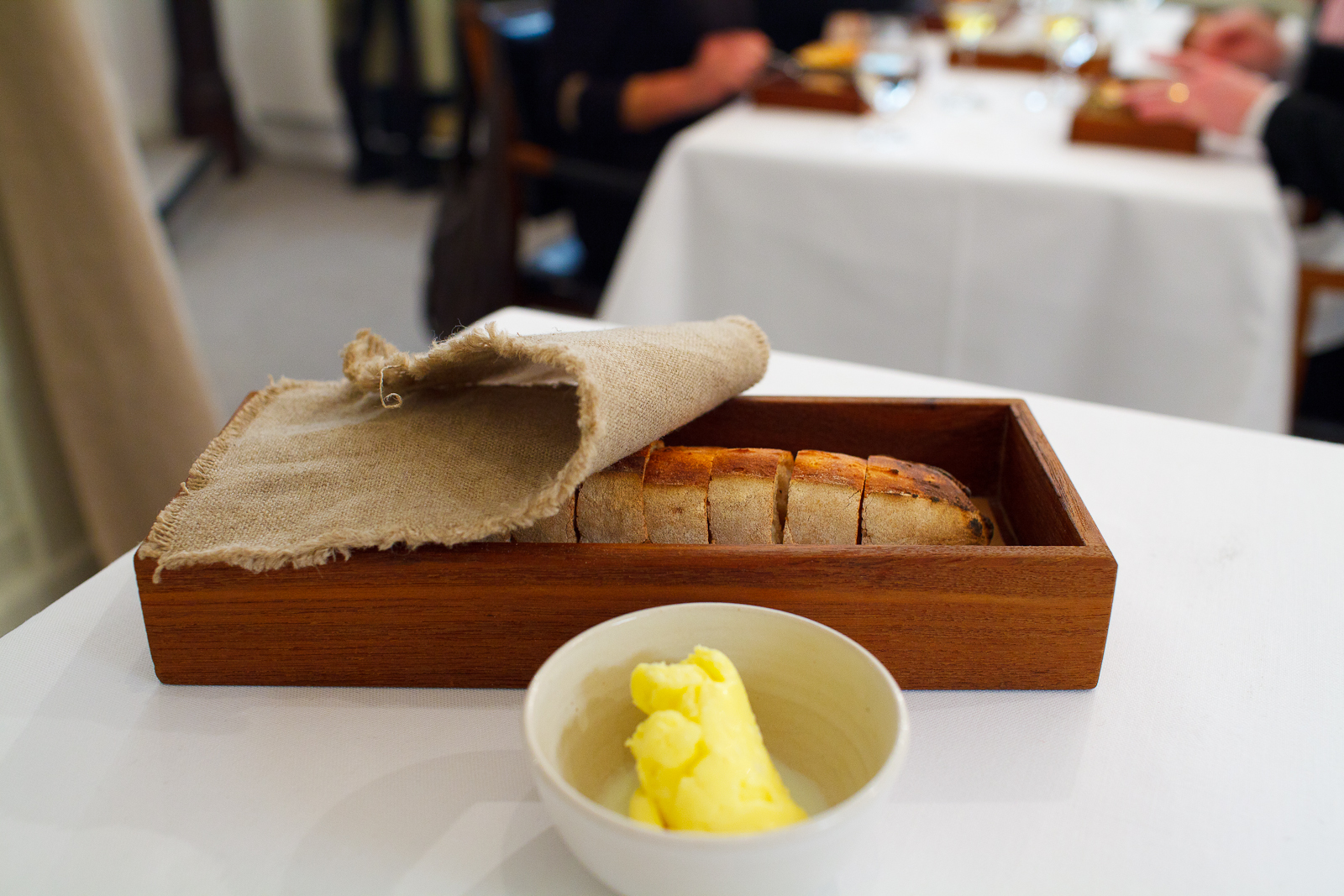 Freshly baked bread with house-churned butter