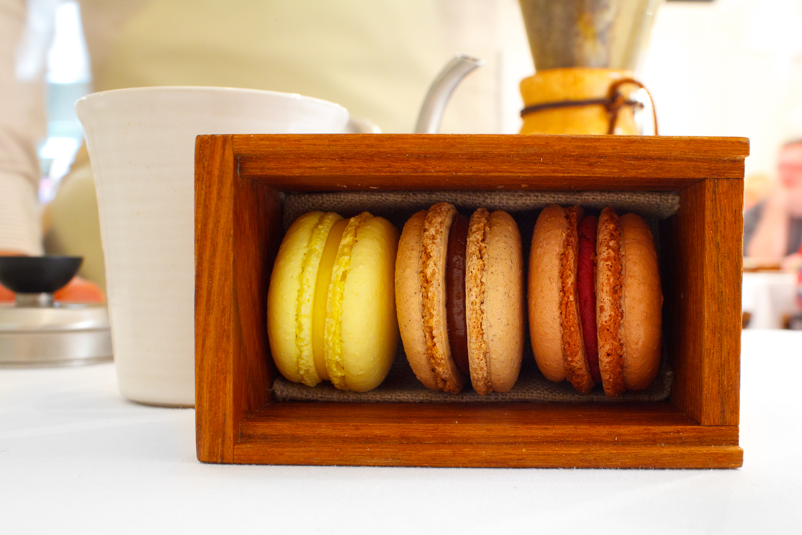 Petits fours: macarons from the garden