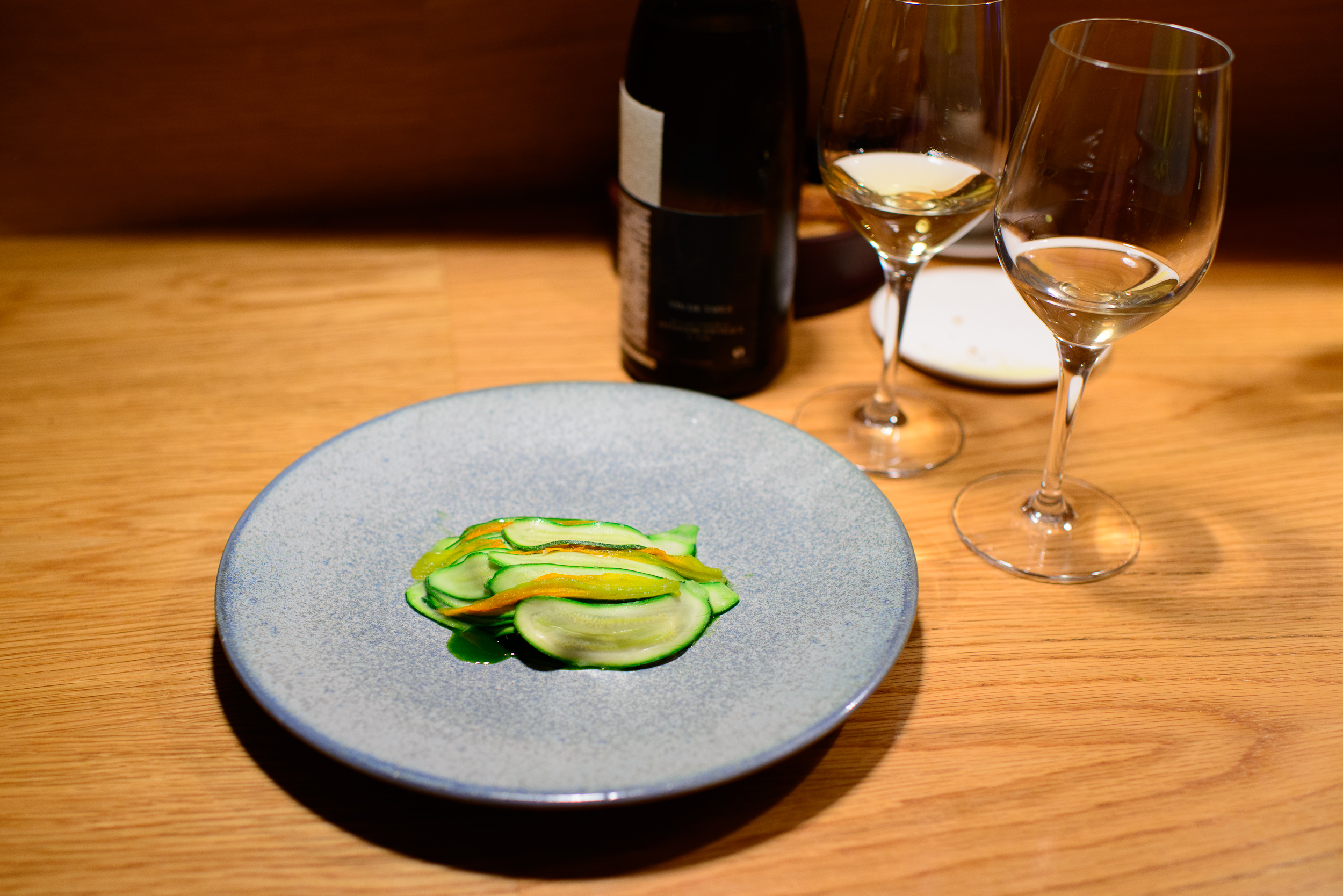 6th Course: Lamb Sweetbreads, Lovage Sauce, Courgettes