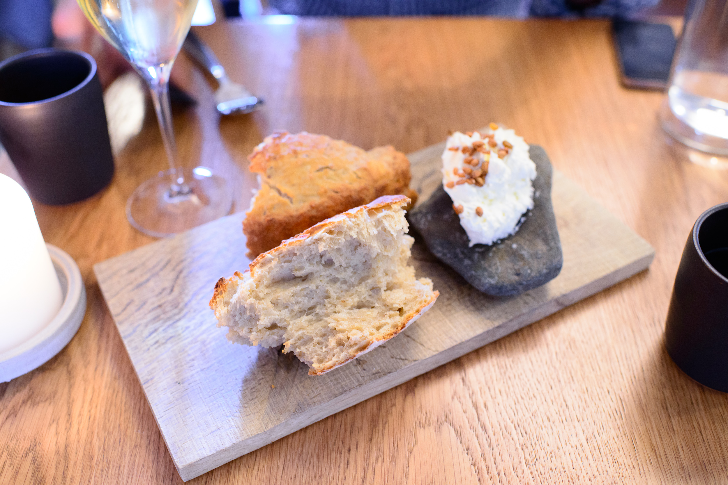 Beer bread, whipped butter