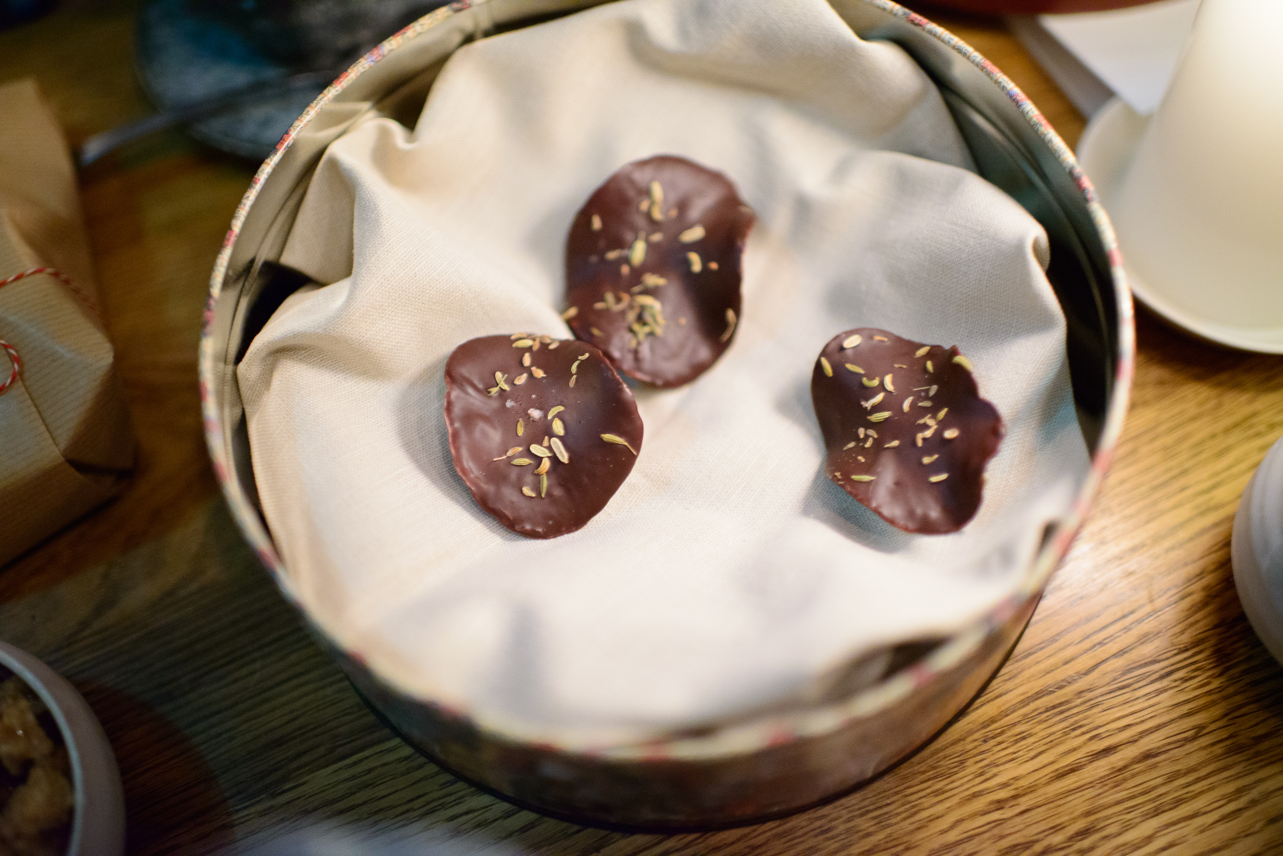 31st Course: Chocolate with Caraway Seeds