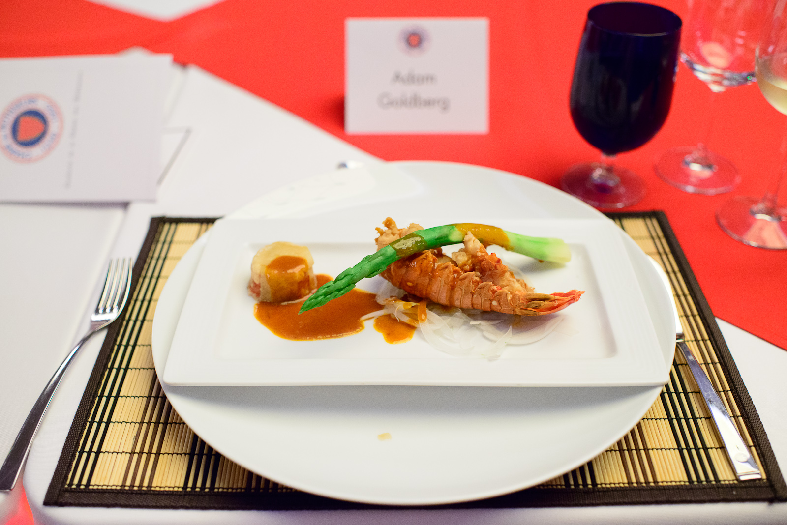 4th Course: Langosta & Nasu - Lobster served with tom yom salsa