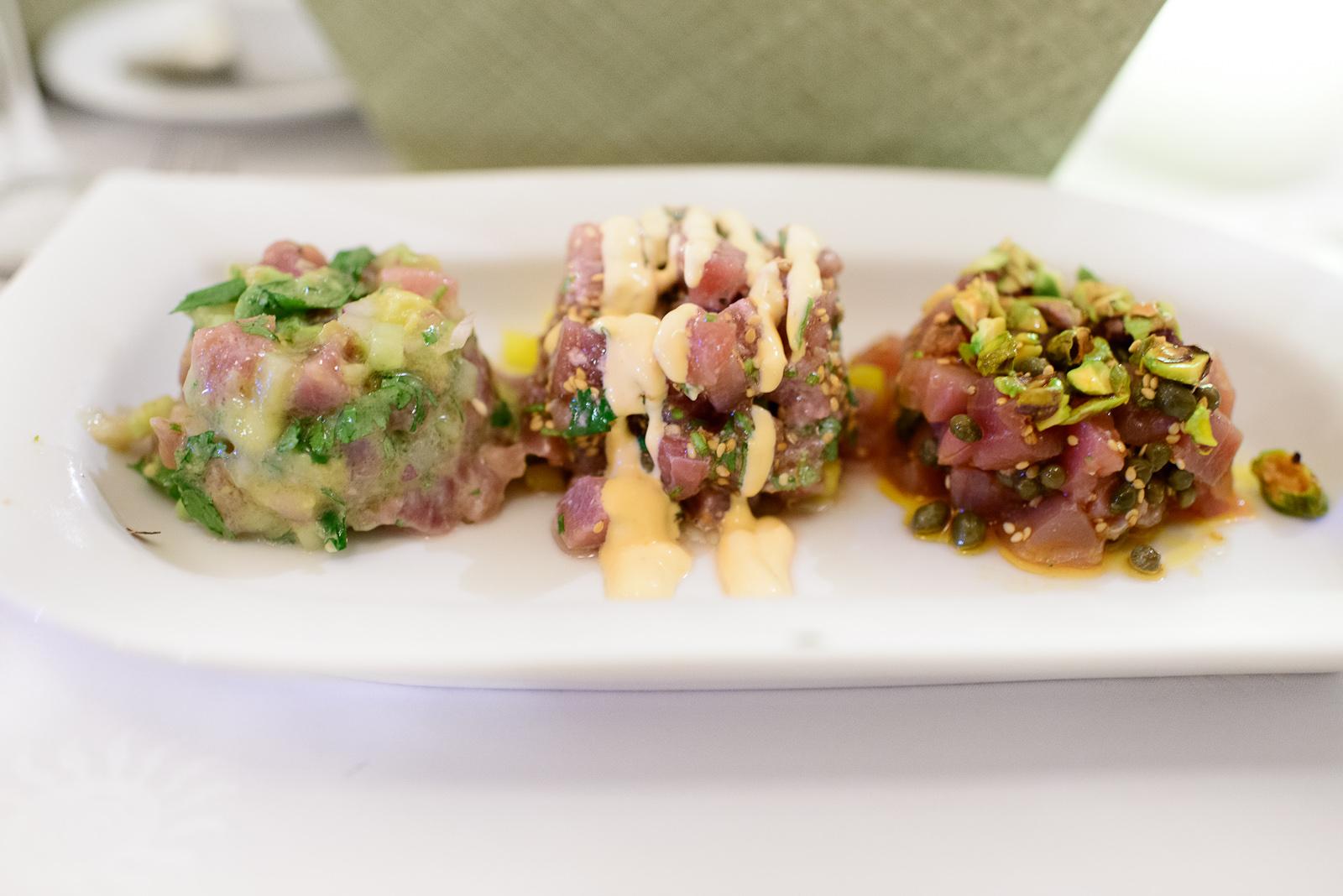 Tuna tartar three ways