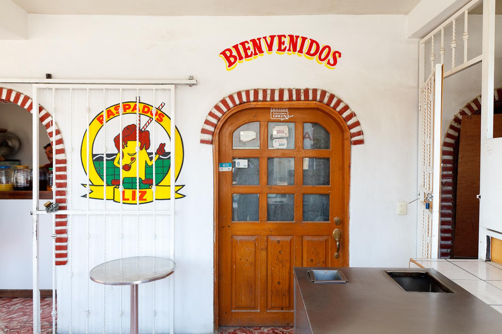 Entrance to Raspados Liz