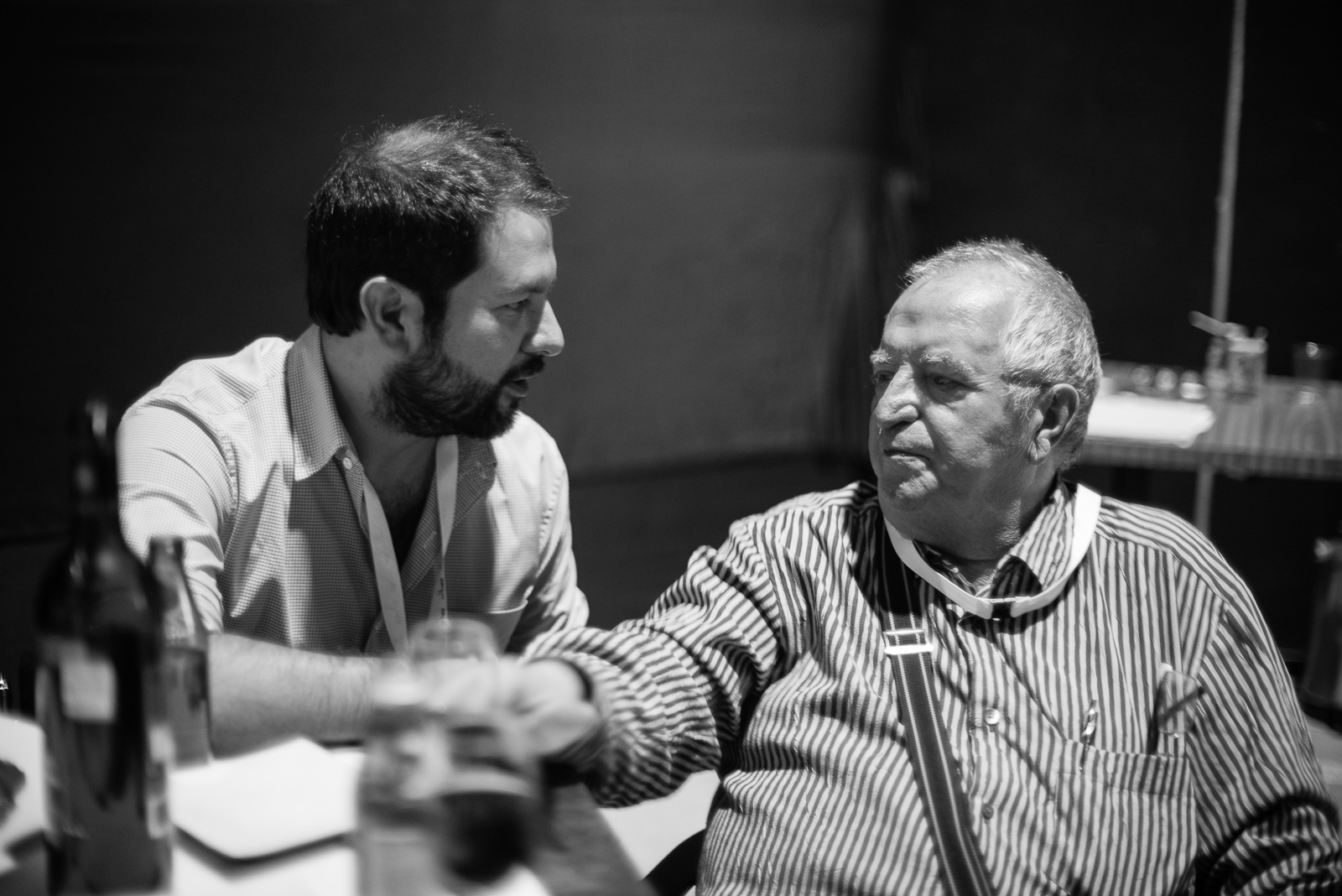Chefs Enrique Olvera and Juan Mari Arzak discussing the role of