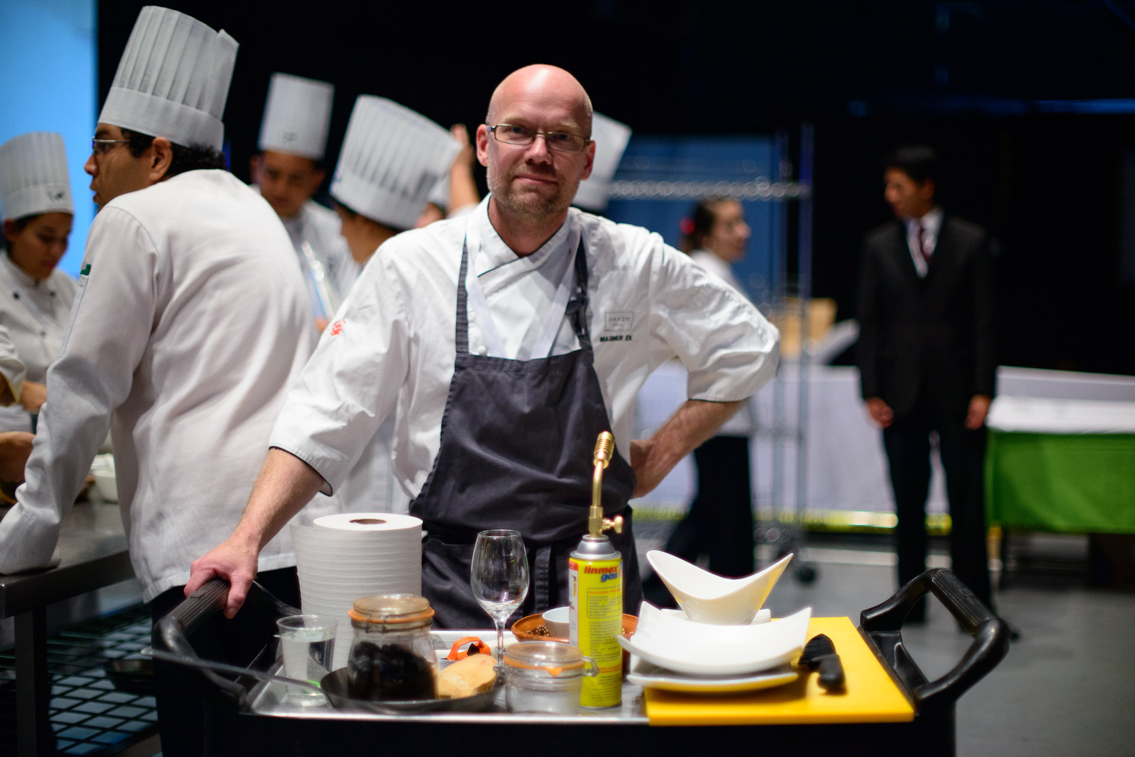 Chef Magnus Ek before his demonstration