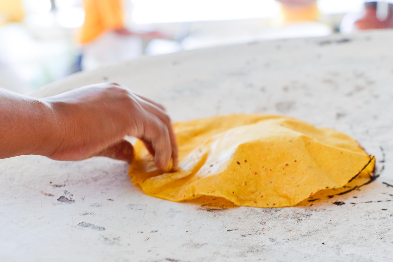 Tortilla inflada