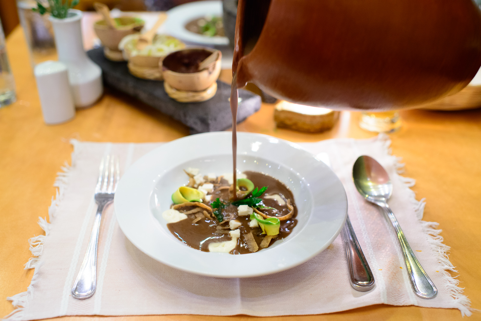 Sopa frijolón con hierba de conejo (Bean soup with rabbit herb)